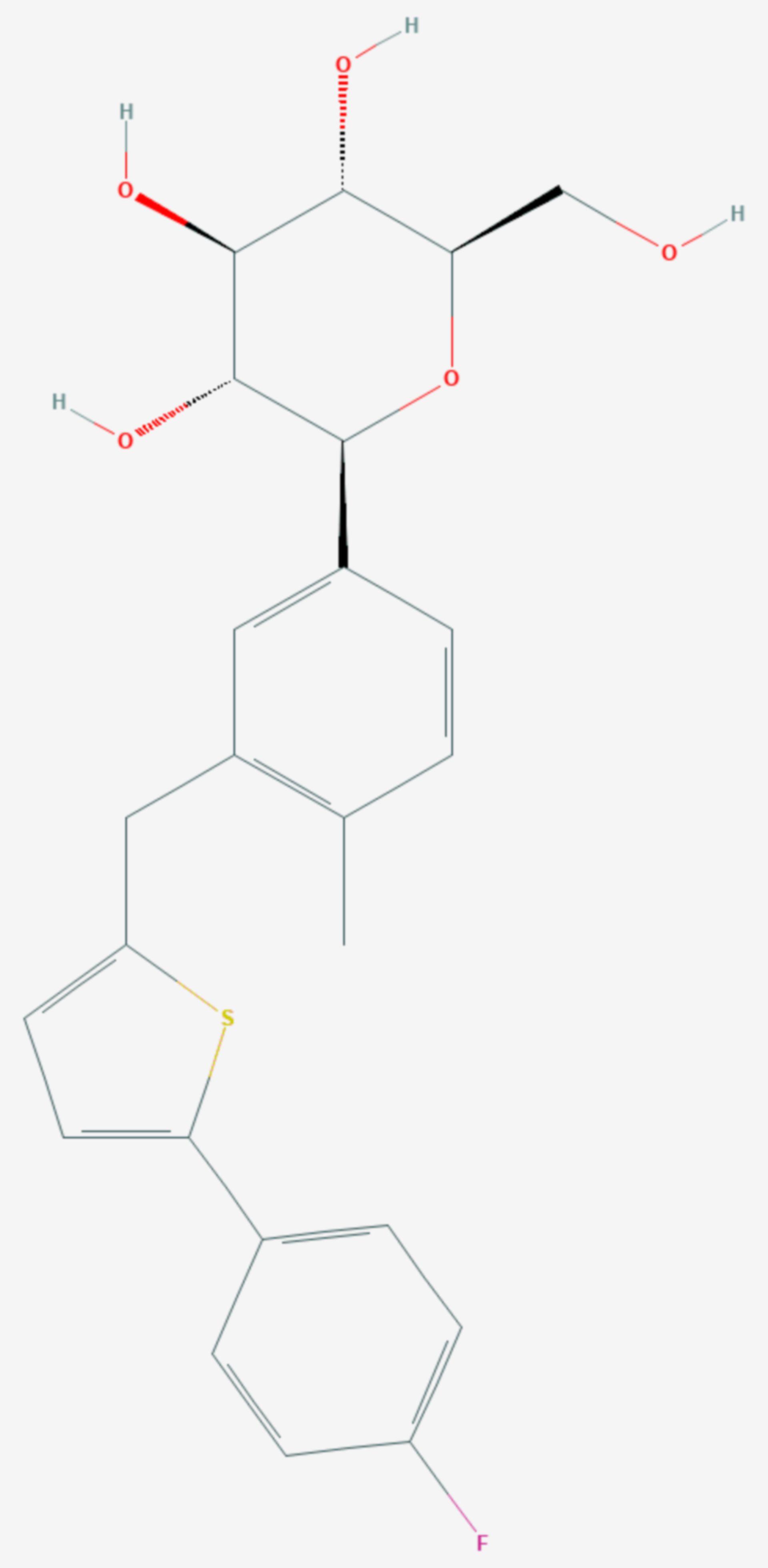 Canagliflozin (Strukturformel)