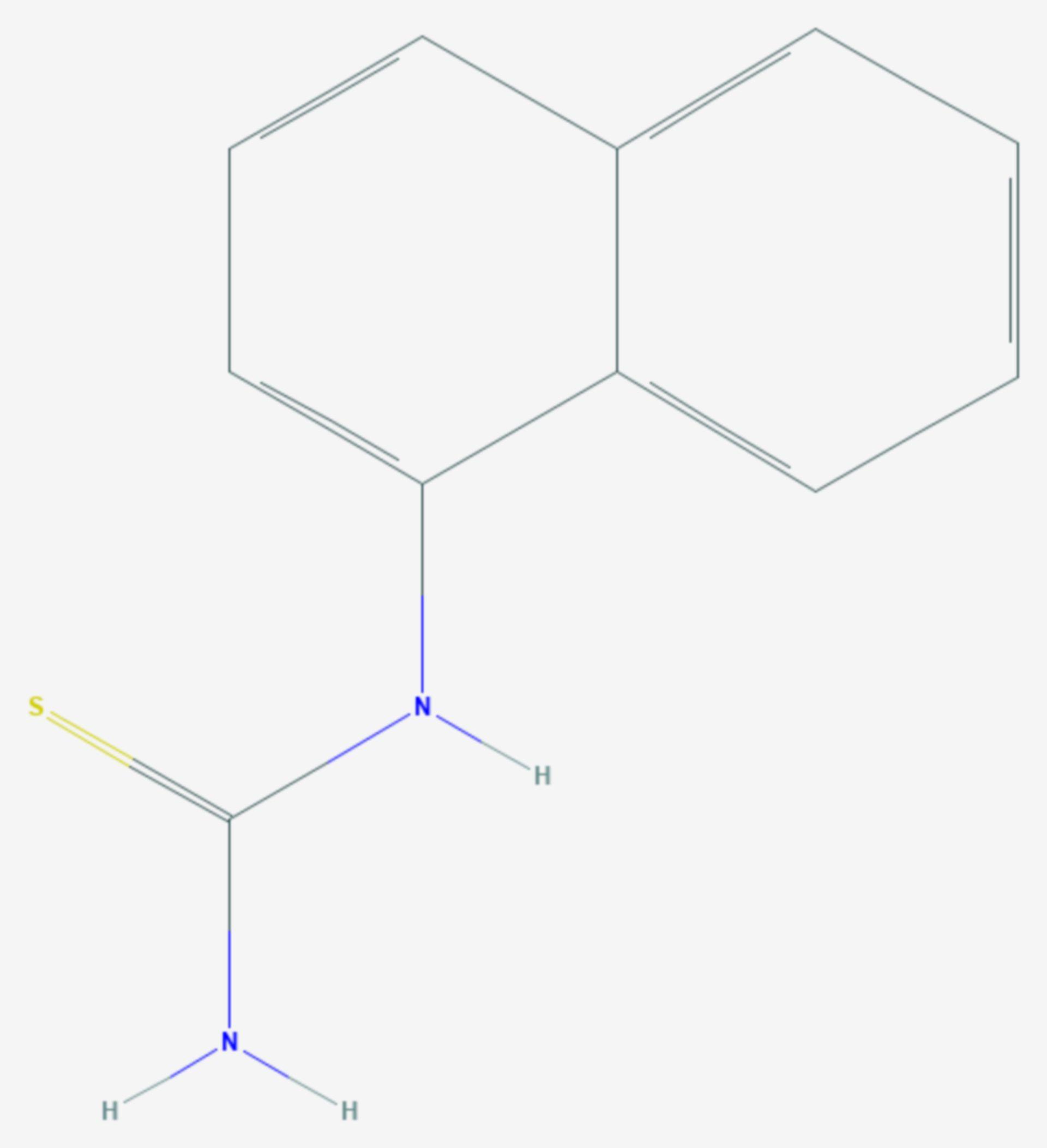 Alpha-Naphthylthioharnstoff (Strukturformel)
