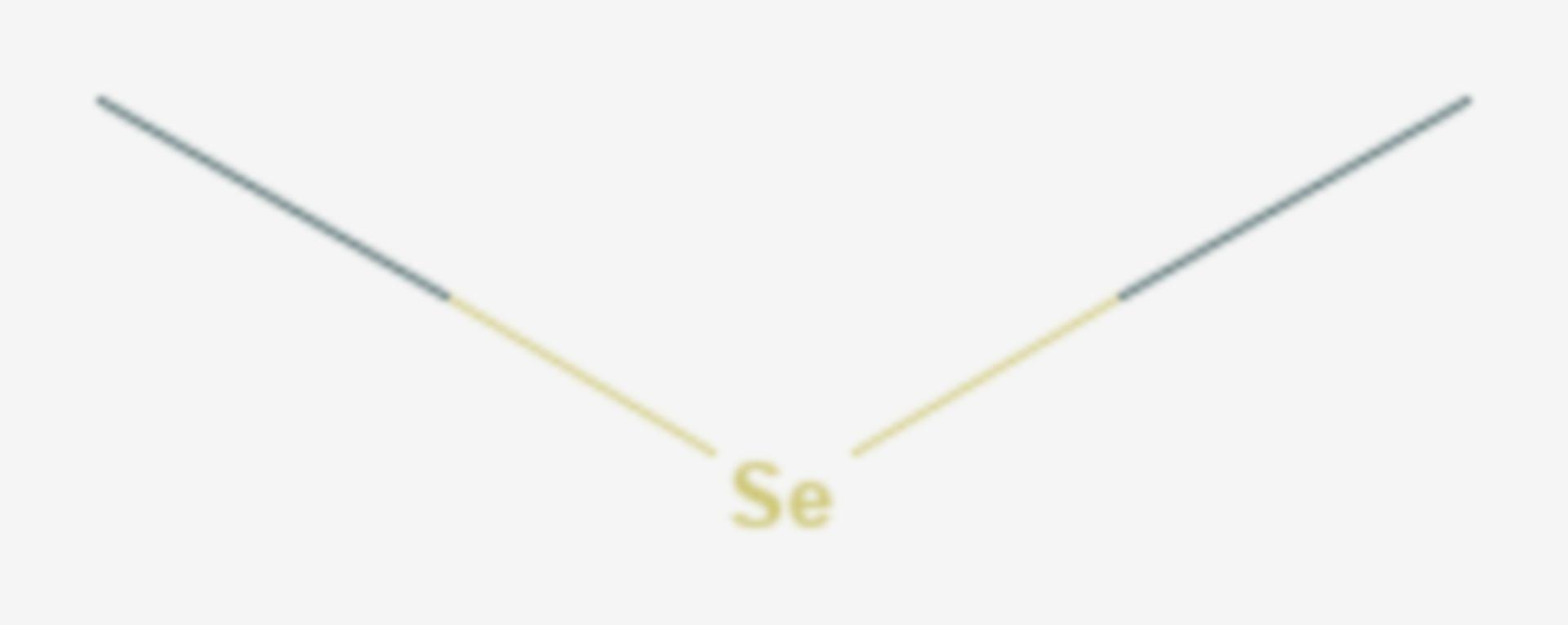 Dimethylselenid (Strukturformel)