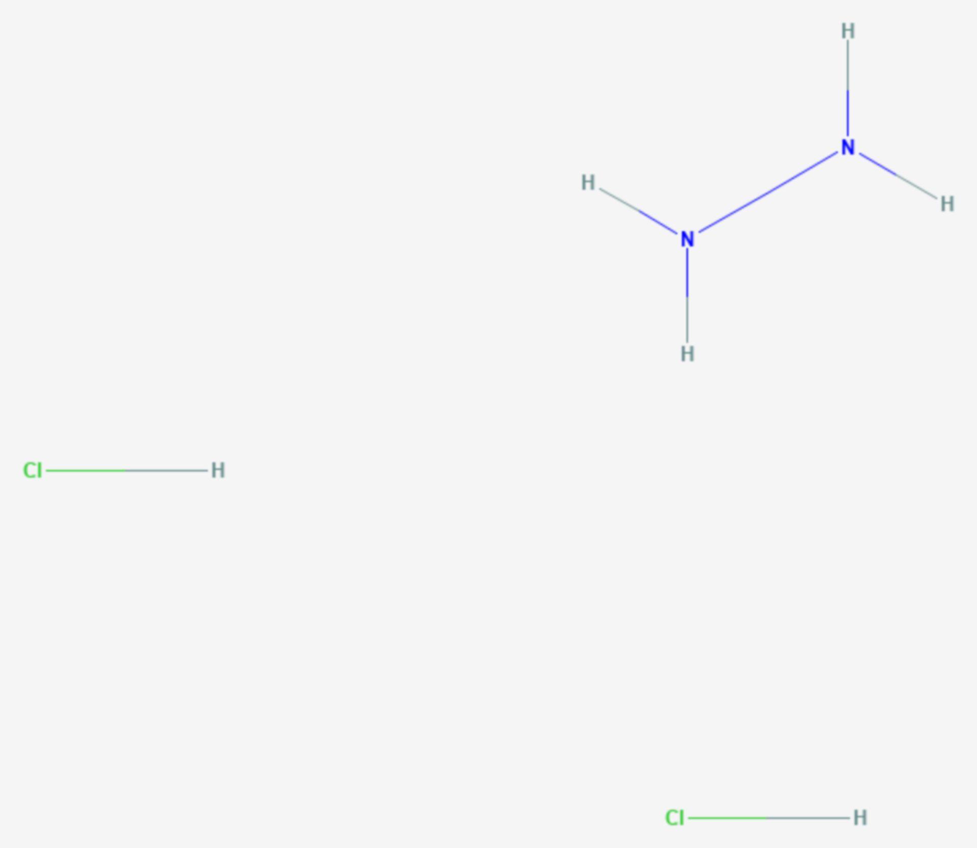 Hydraziniumdichlorid (Strukturformel)