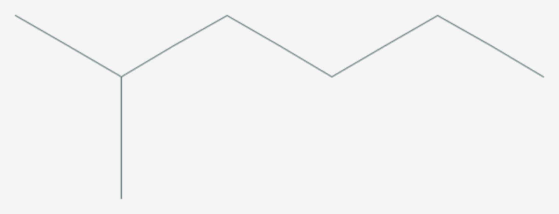 2-Methylhexan (Strukturformel)
