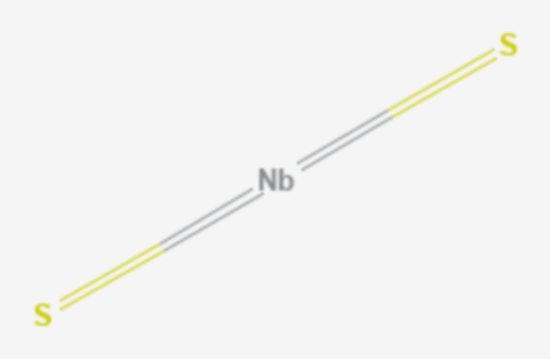 Niob(IV)-sulfid (Strukturformel)
