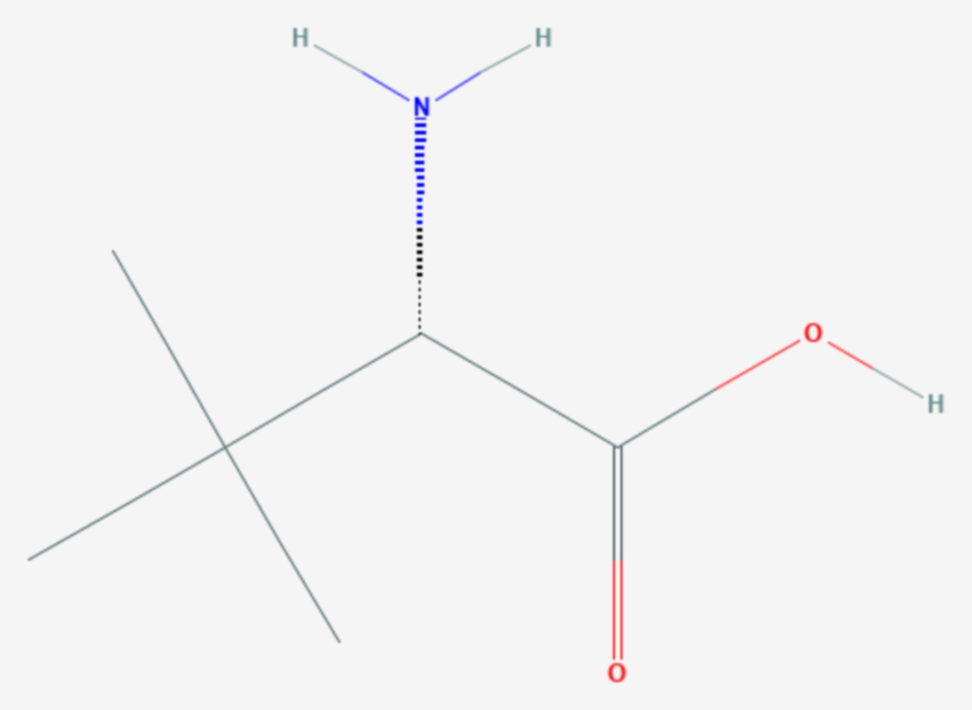 Tert-Leucin (Strukturformel)