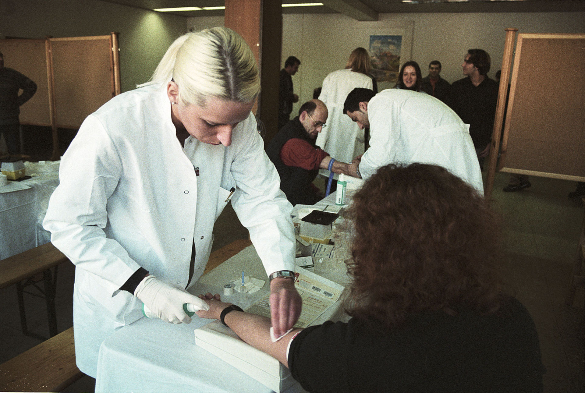 Blutabnahme bei Registrierungsaktion