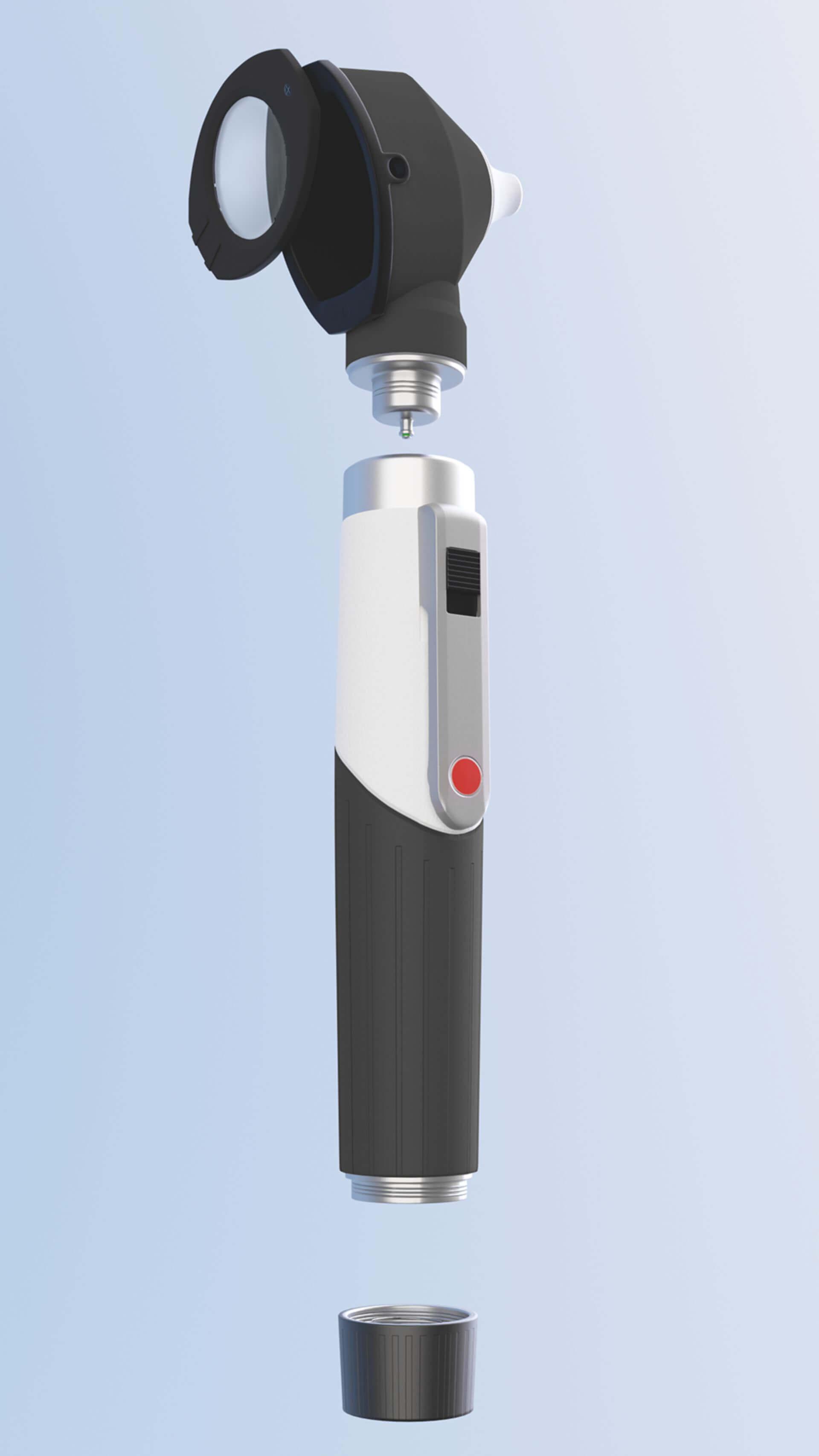 3D-Rendering: Otoskop Einzelkomponenten
