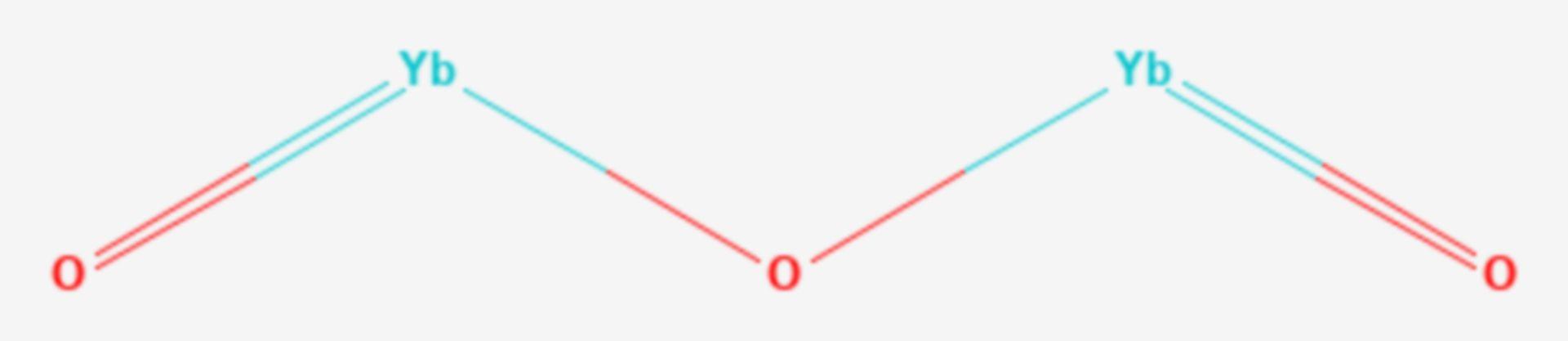 Ytterbium(III)-oxid (Strukturformel)