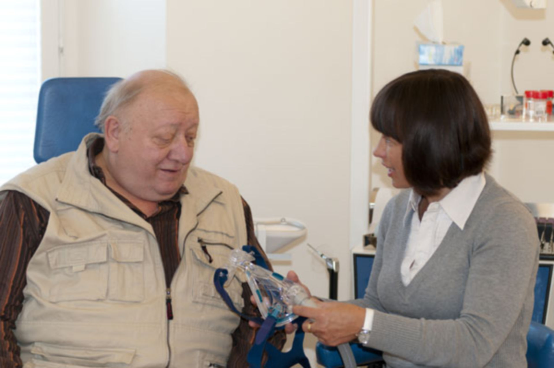 Patient mit CPAP-Gerät