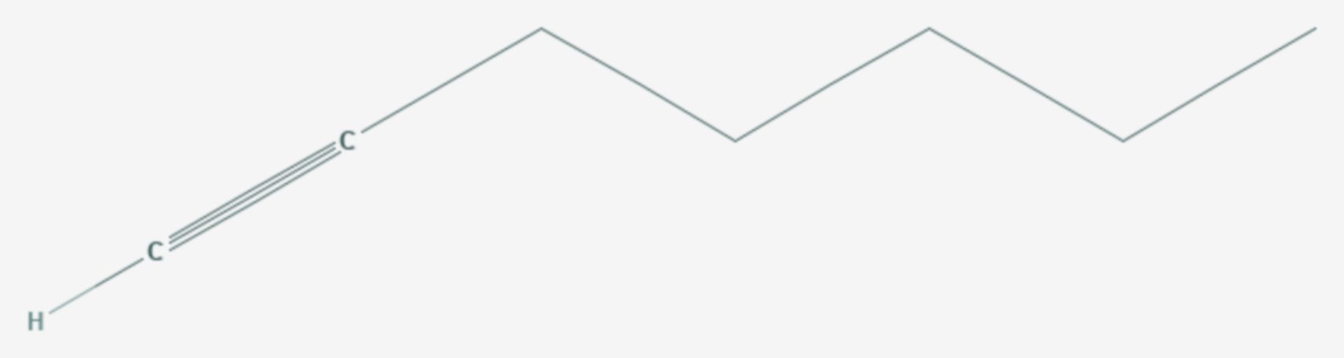 1-Heptin (Strukturformel)