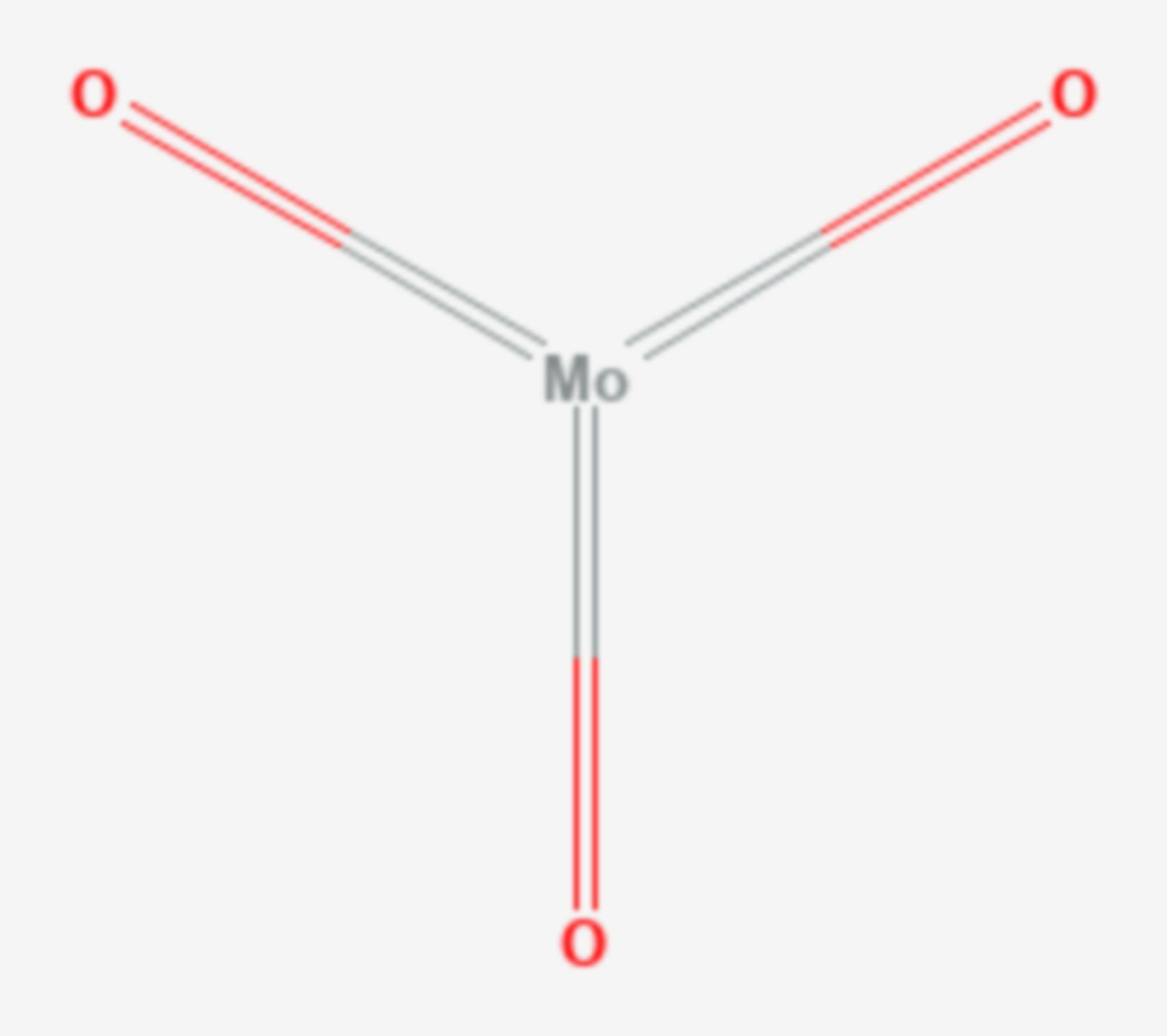 Molybdän(VI)-oxid (Strukturformel)