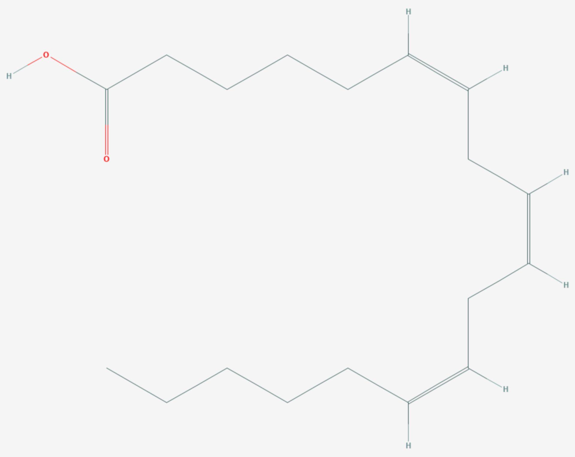 Gamma-Linolensäure (Strukturformel)