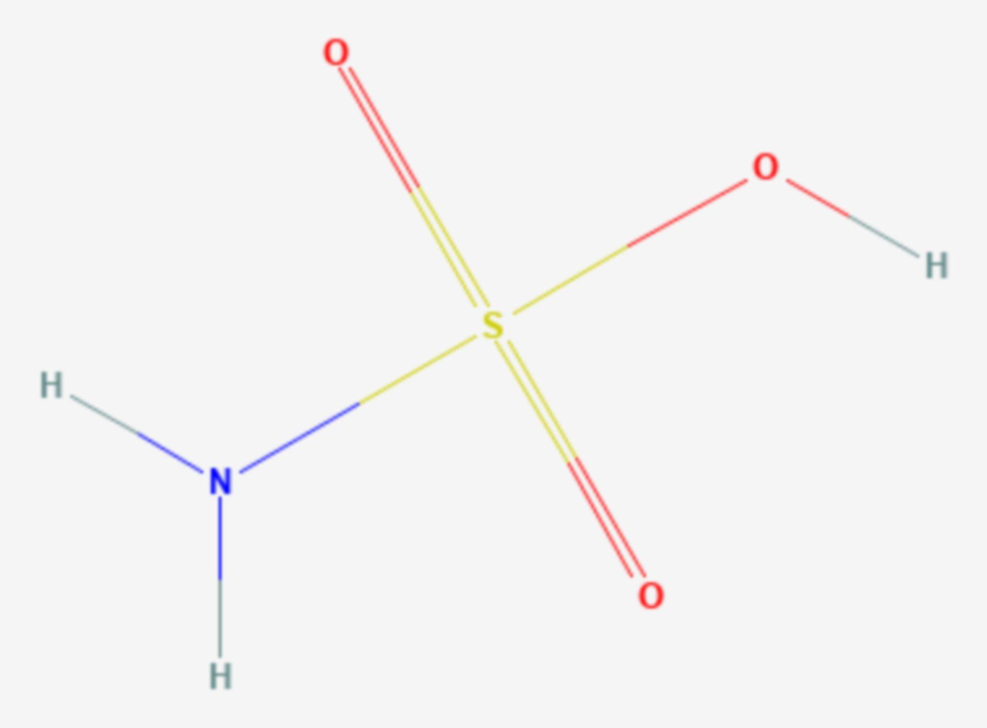 Amidosulfonsäure (Strukturformel)