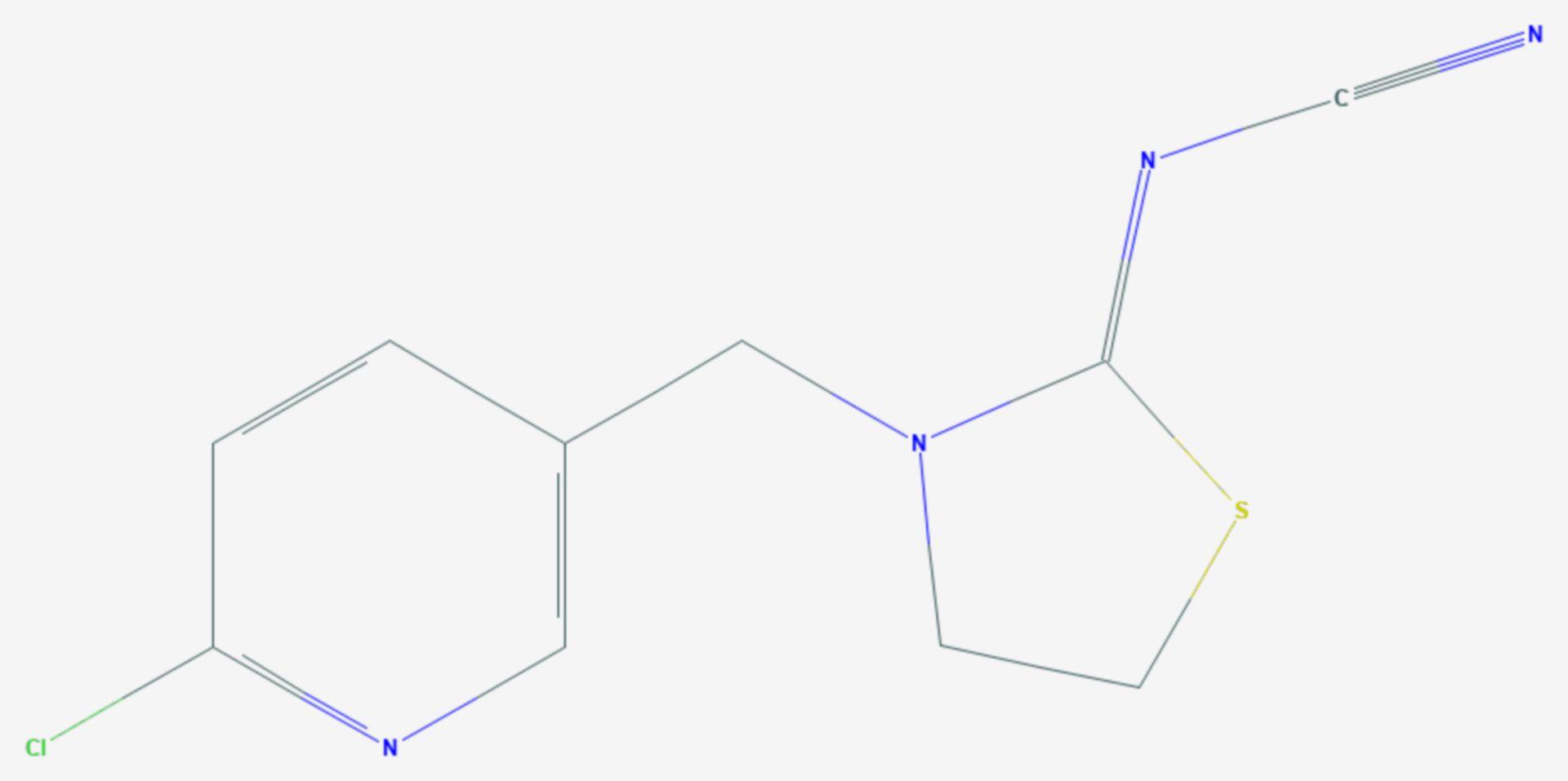 Thiacloprid (Strukturformel)