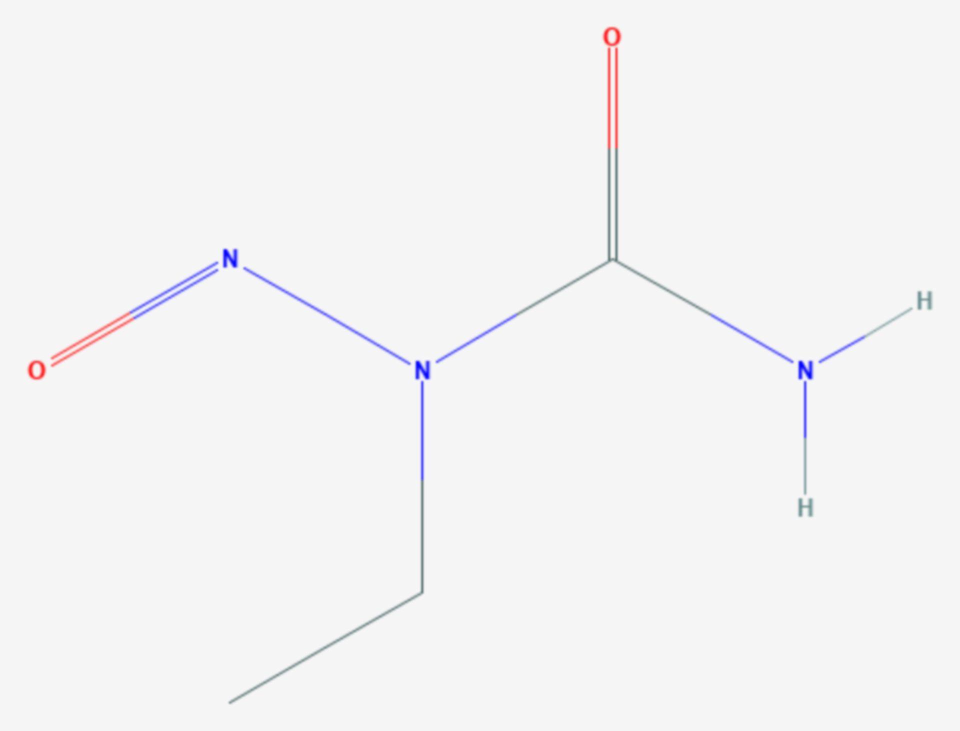 N-Ethyl-N-nitrosoharnstoff (Strukturformel)