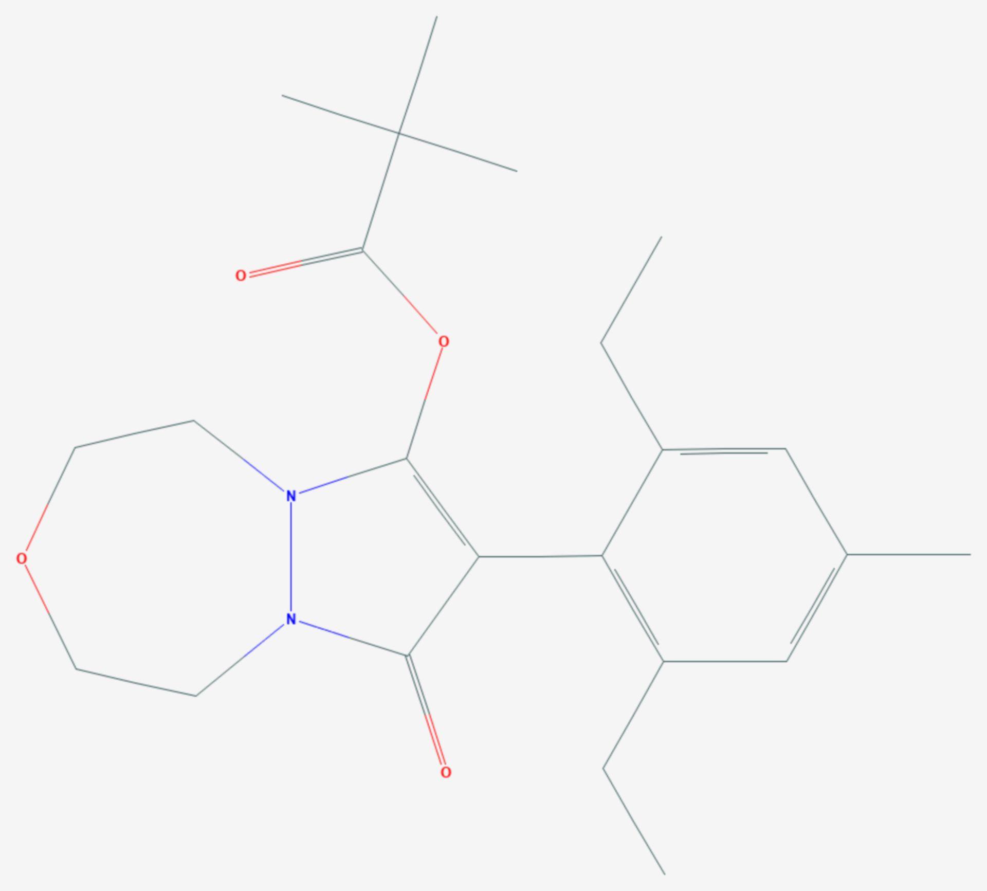 Pinoxaden (Strukturformel)