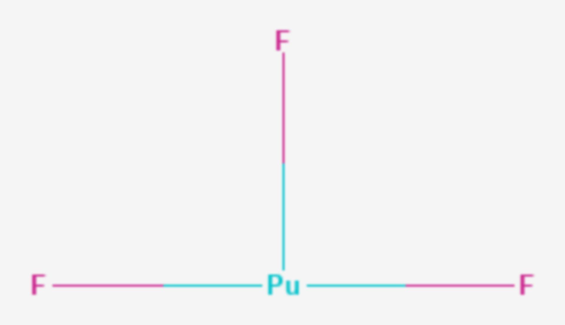Plutonium(III)-fluorid (Strukturformel)