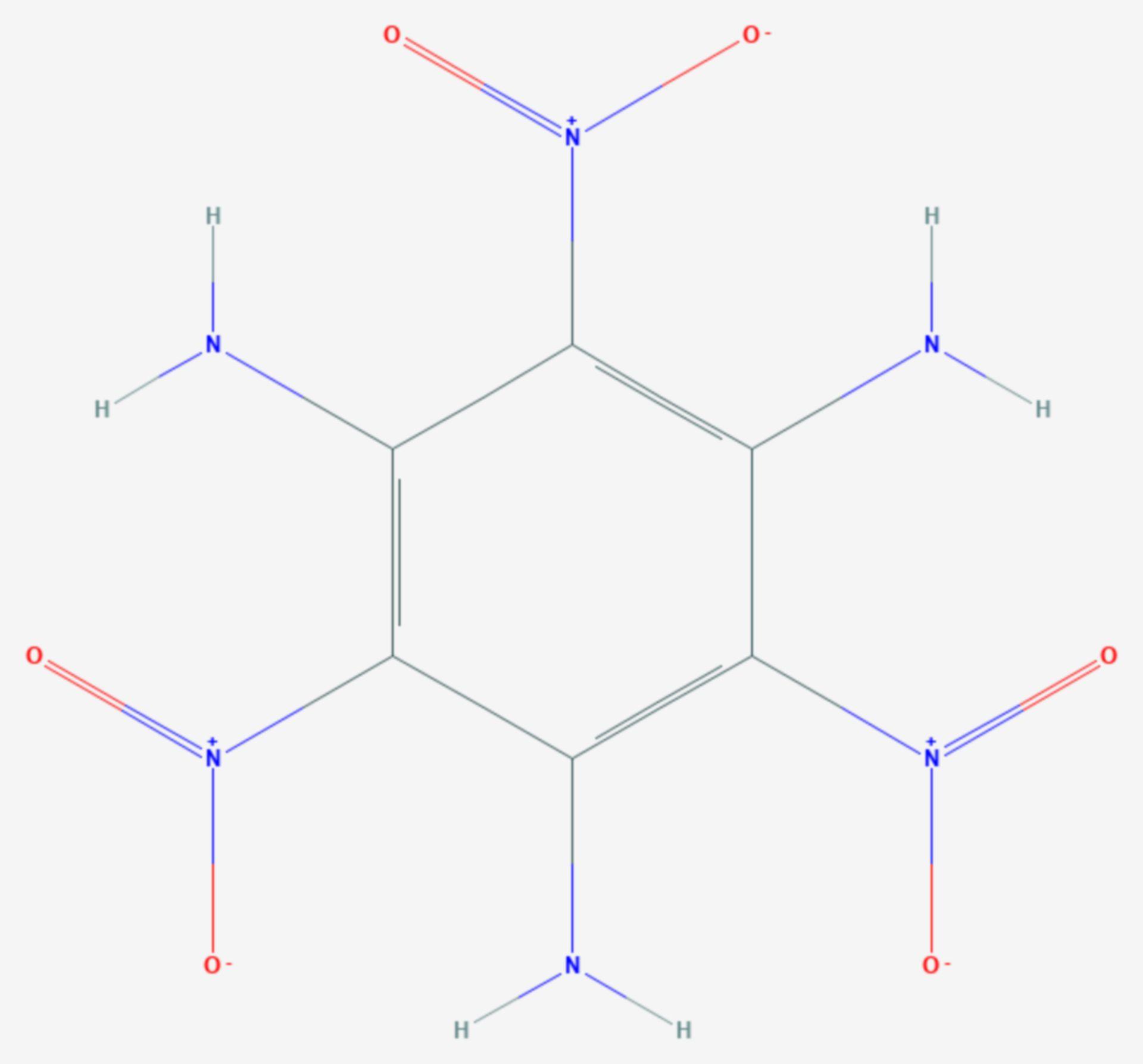 Triaminotrinitrobenzol (Strukturformel)