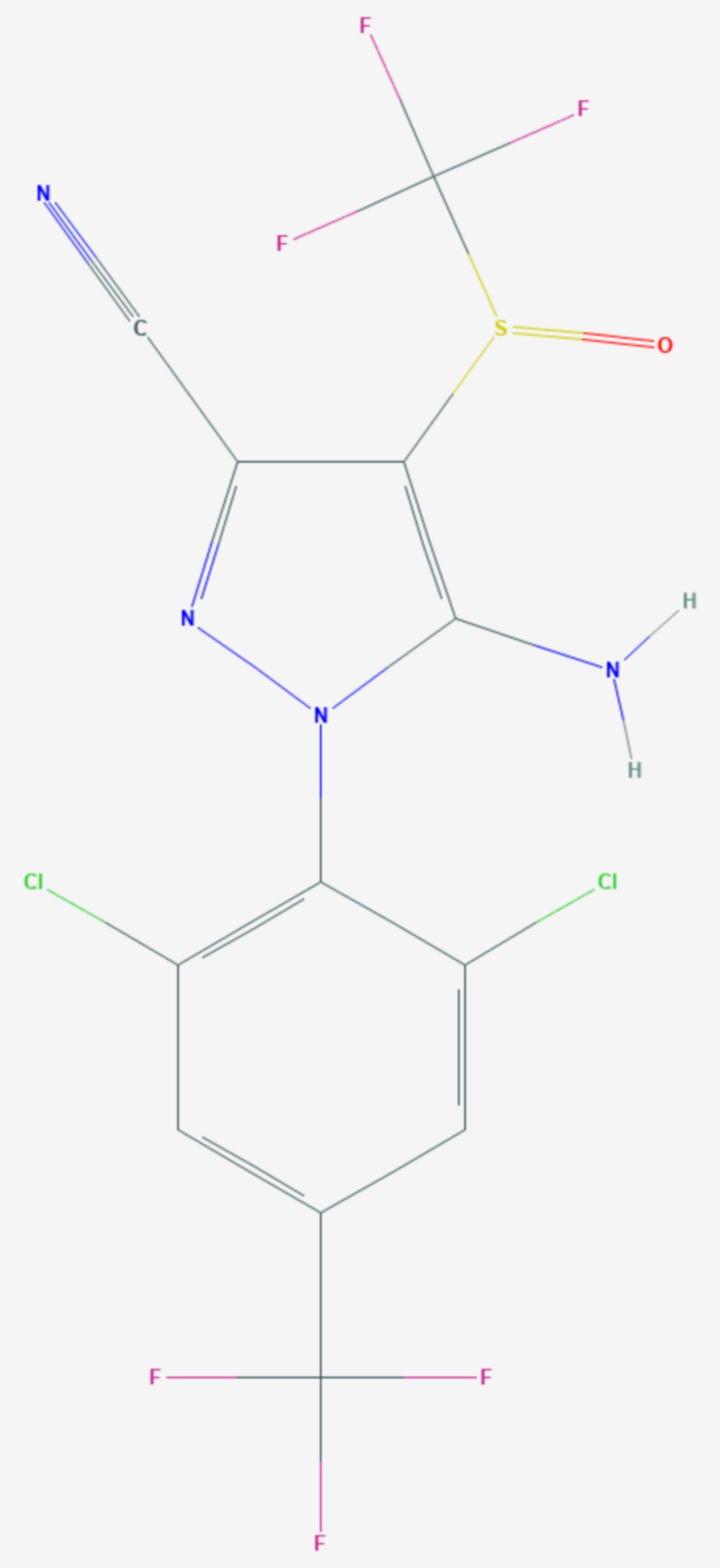 Fipronil (Strukturformel)