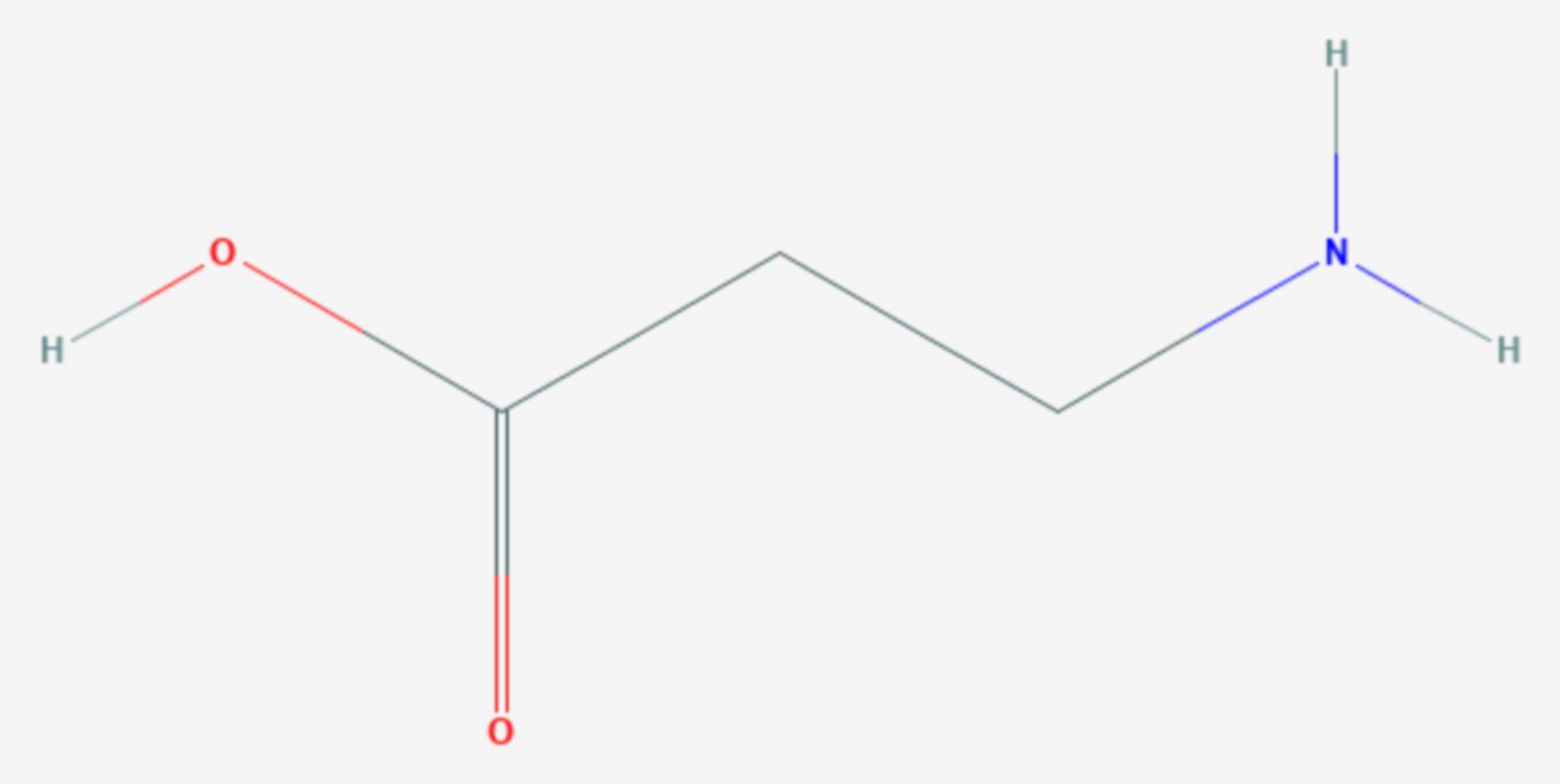 Β-Alanin (Strukturformel)