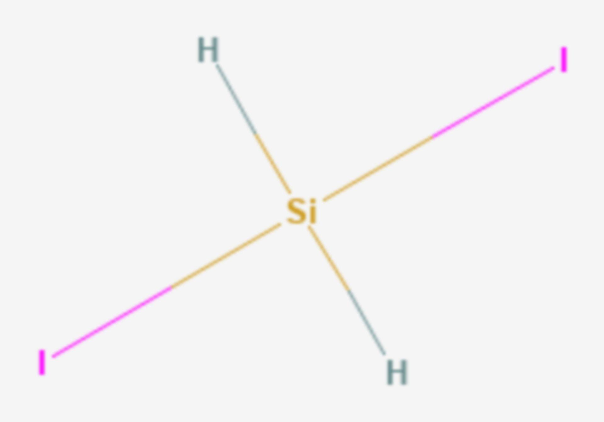 Diiodsilan (Strukturformel)