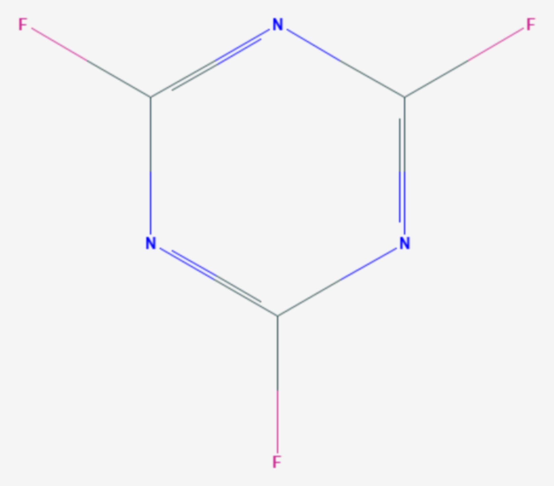 Cyanurfluorid (Strukturformel)