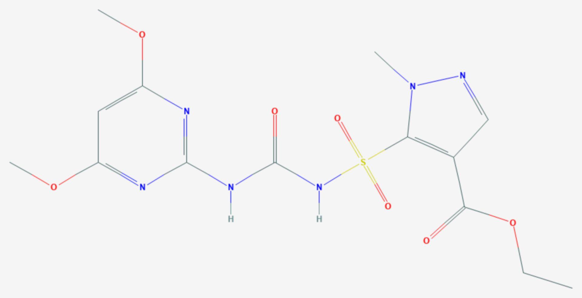 Pyrazosulfuron-ethyl (Strukturformel)