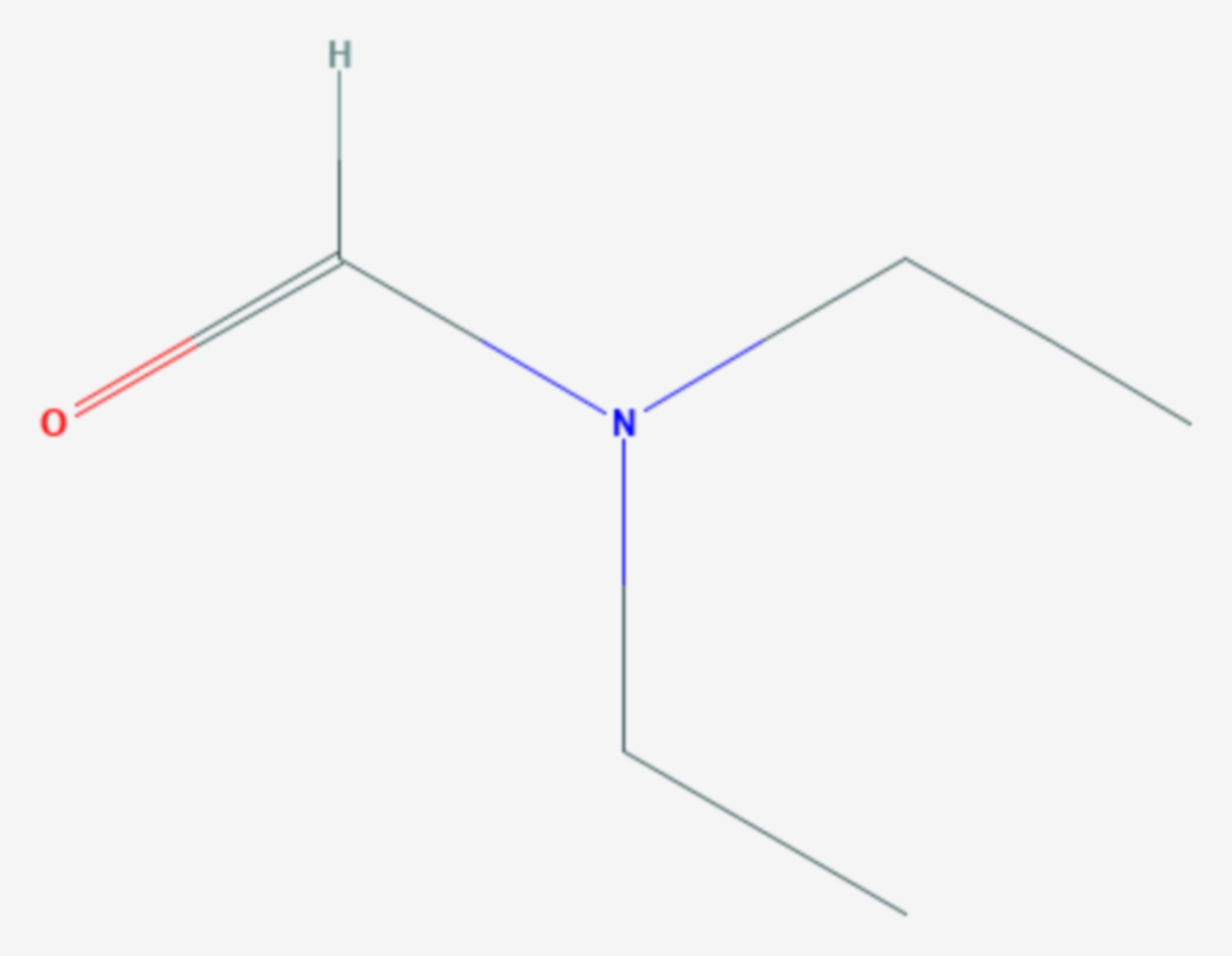 N,N-Diethylformamid (Strukturformel)