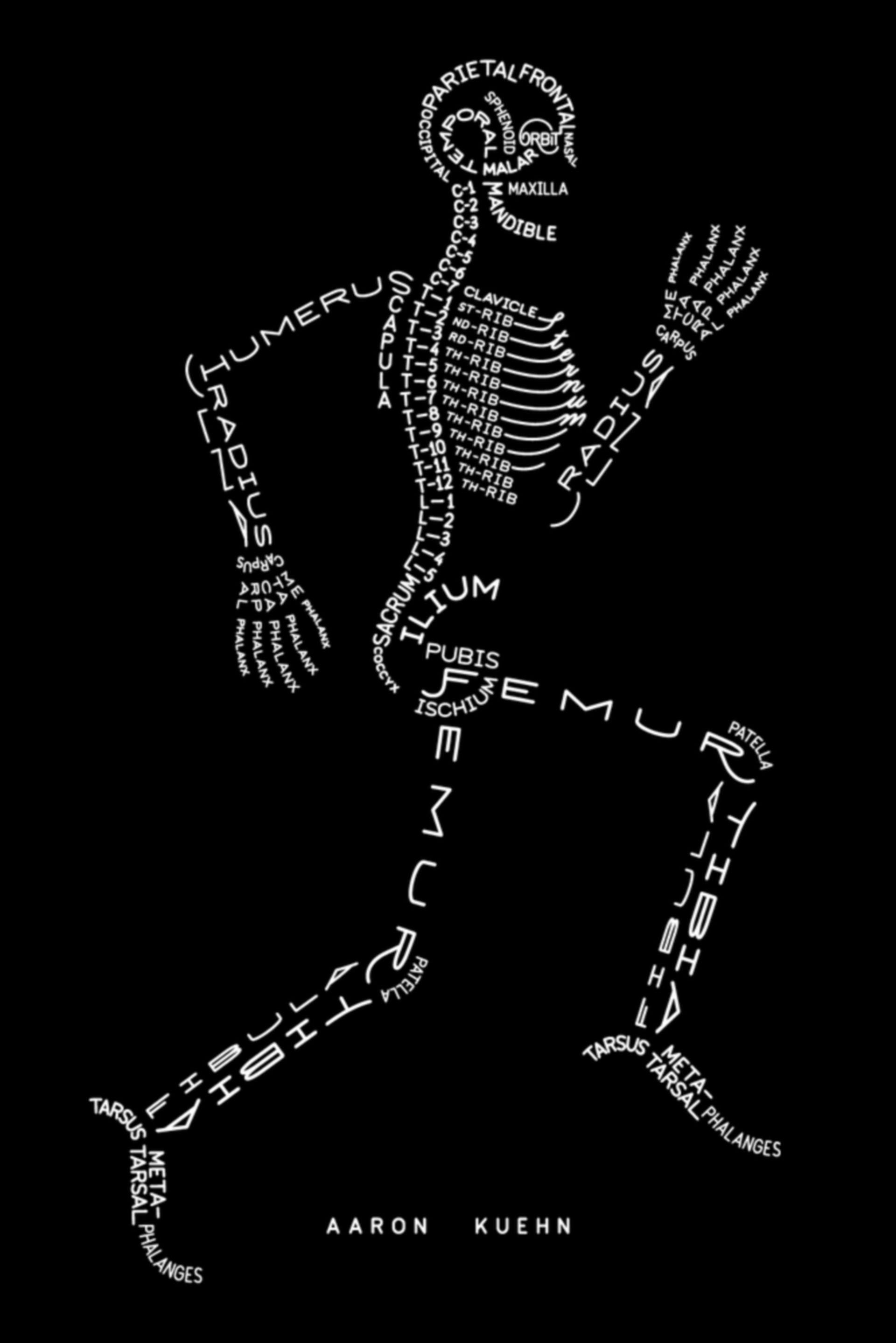Skelett Typogramm