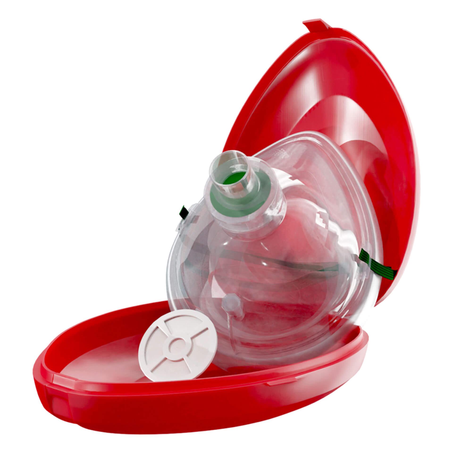 """3D-Rendering: DocCheck Taschen-Beatmungsmaske """"Luft"""""""