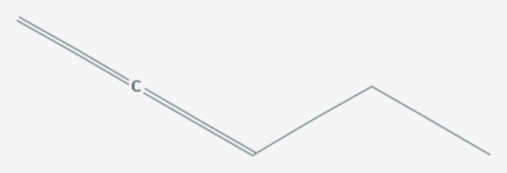 1,2-Pentadien (Strukturformel)