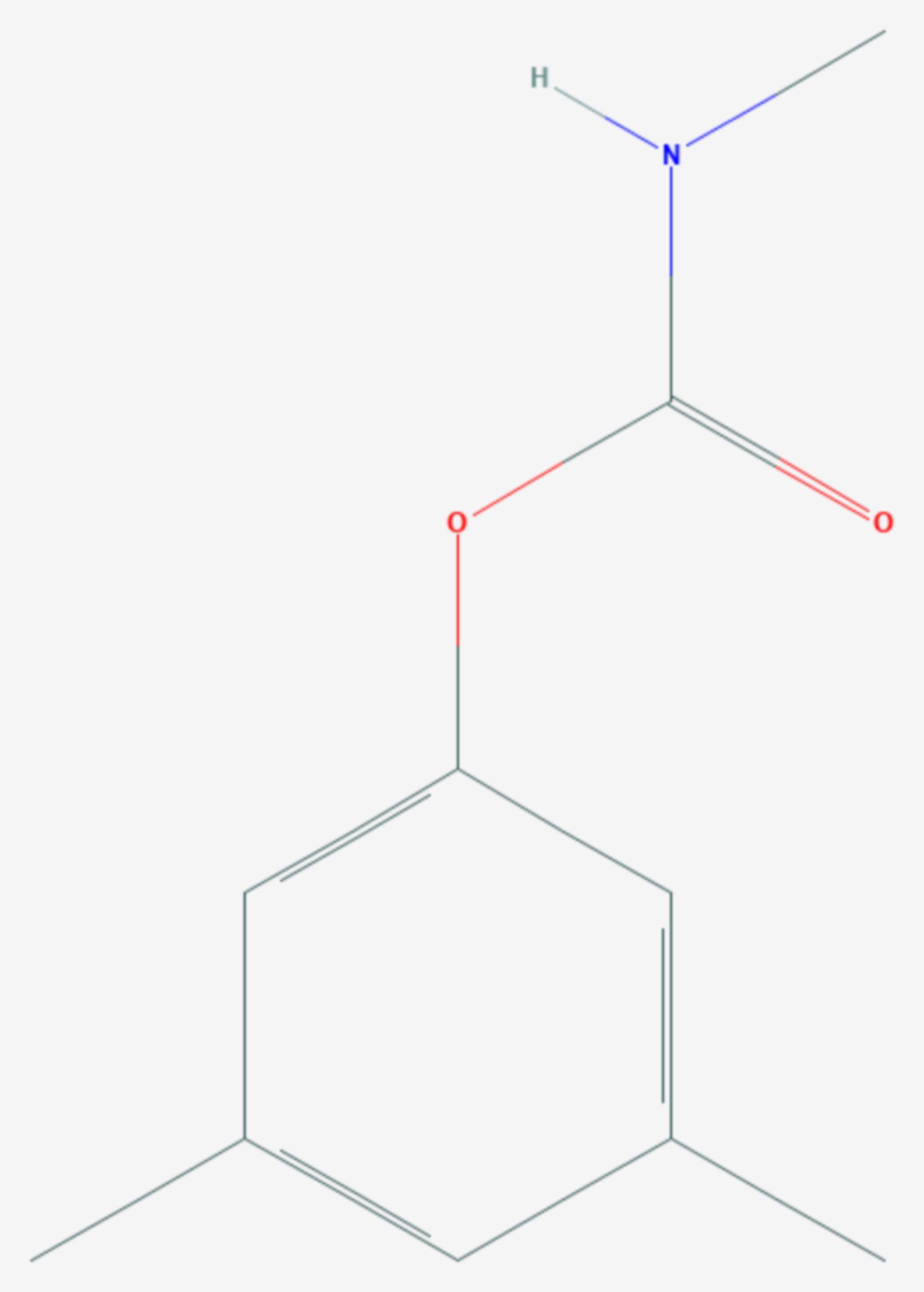 3,5-Xylylmethylcarbamat (Strukturformel)