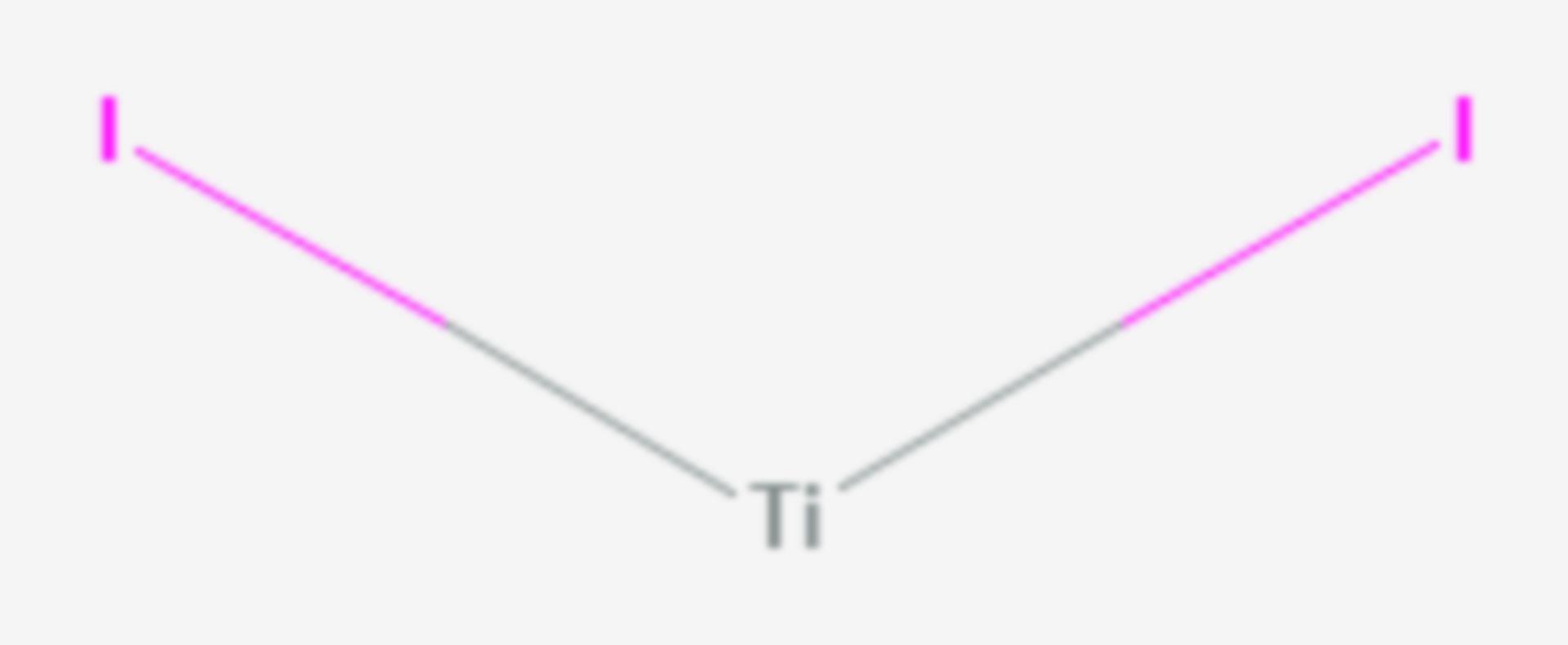 Titan(II)-iodid (Strukturformel)