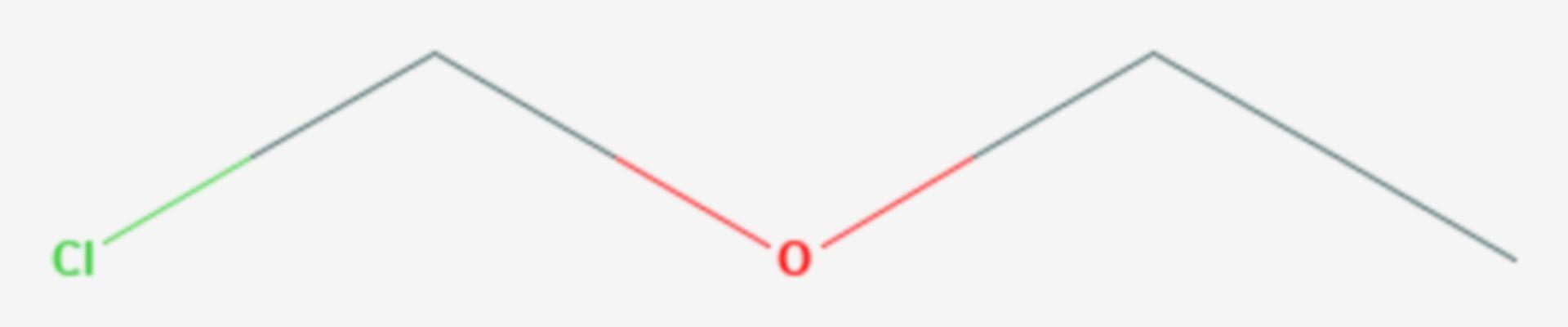 Chlormethylethylether (Strukturformel)