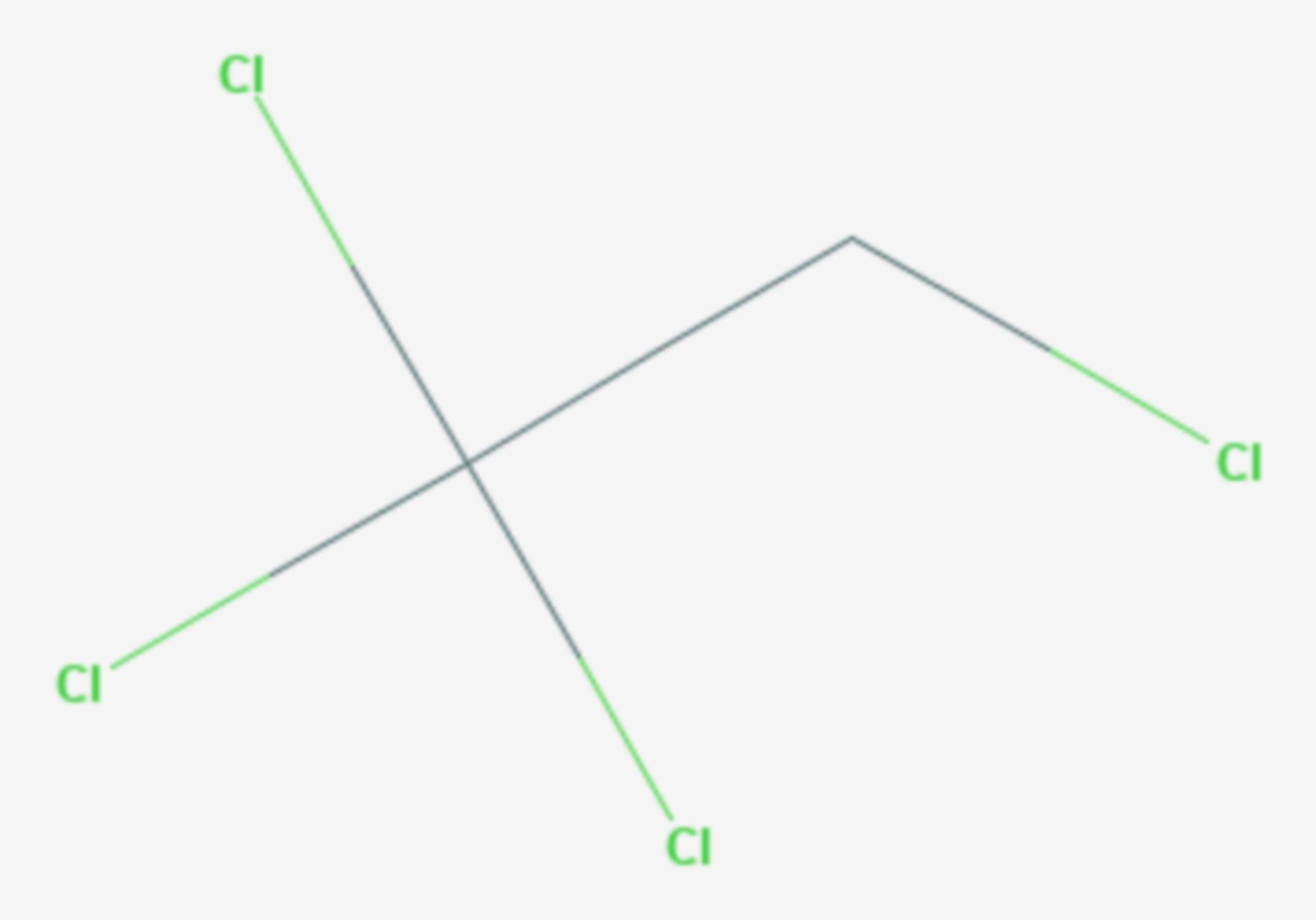 1,1,1,2-Tetrachlorethan (Strukturformel)