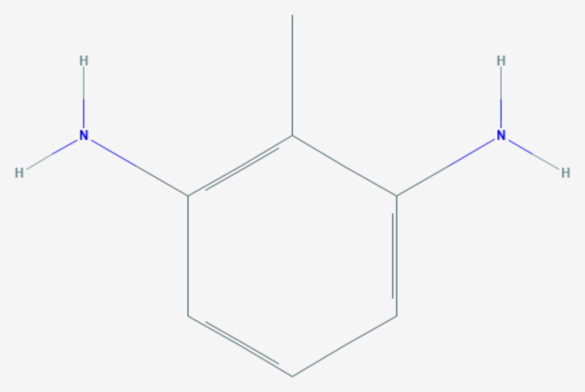 2,6-Diaminotoluol (Strukturformel)