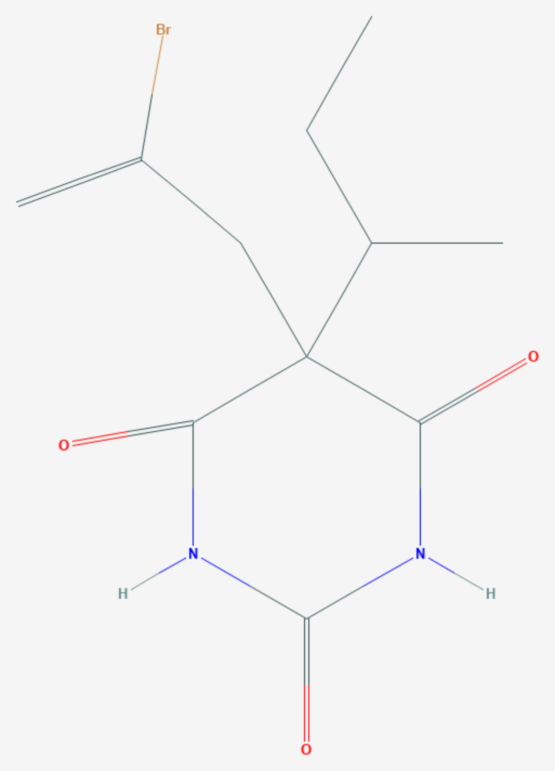 Butallylonal (Strukturformel)