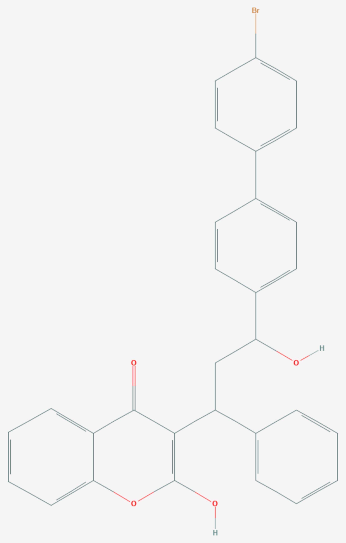 Bromadiolon (Strukturformel)