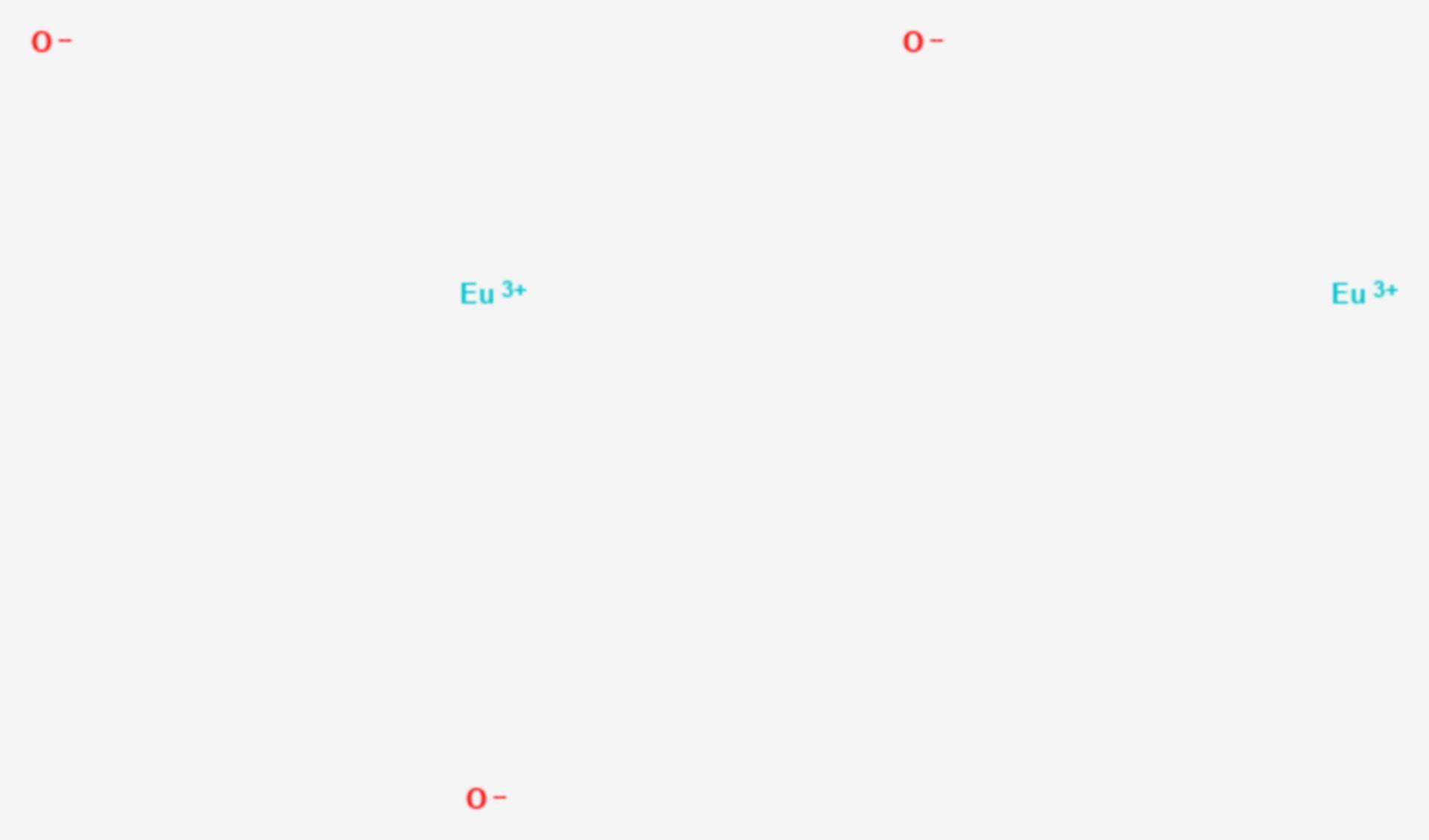 Europium(III)-oxid (Strukturformel)