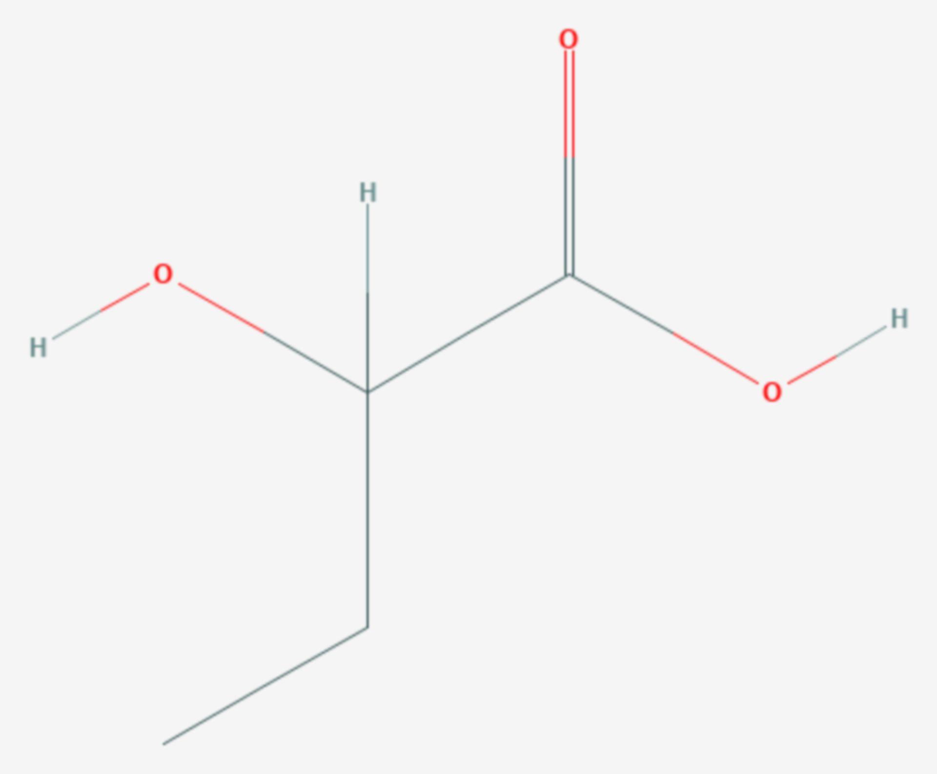 2-Hydroxybutansäure (Strukturformel)