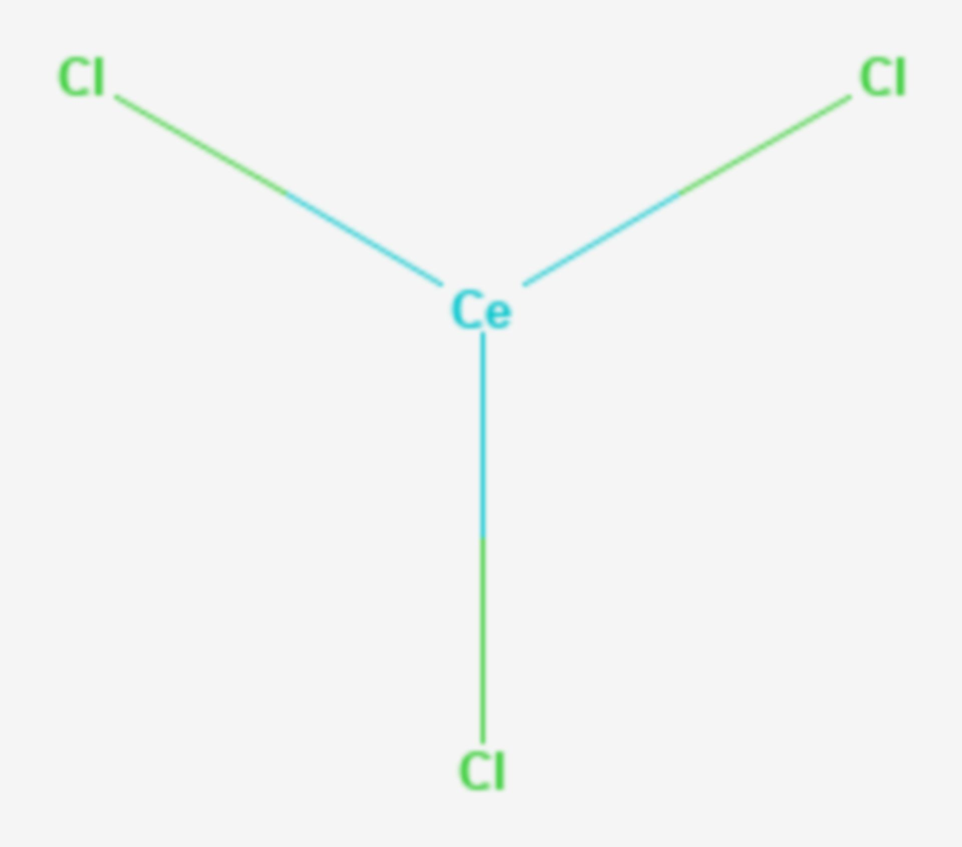 Cer(III)-chlorid (Strukturformel)