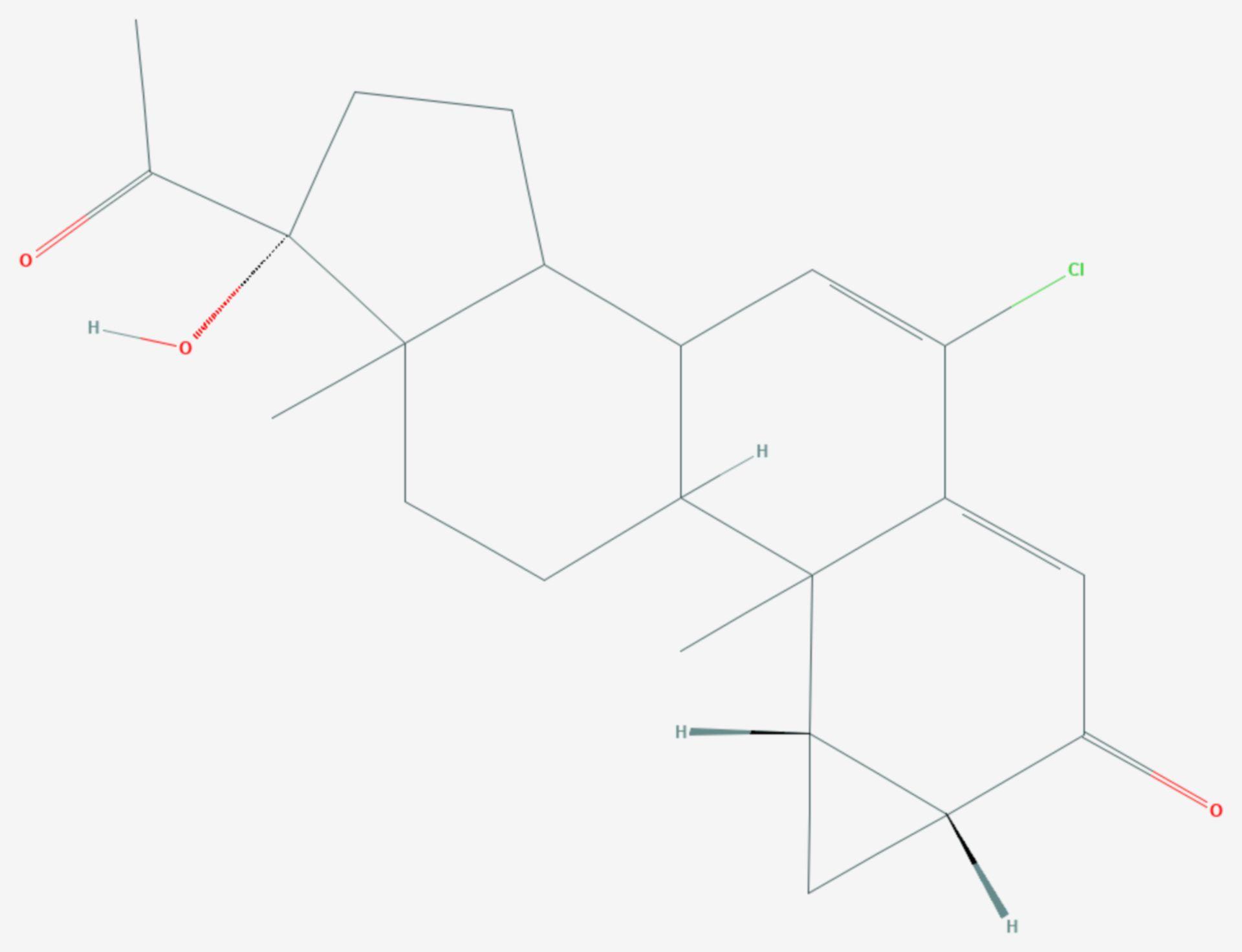 Cyproteron (Strukturformel)