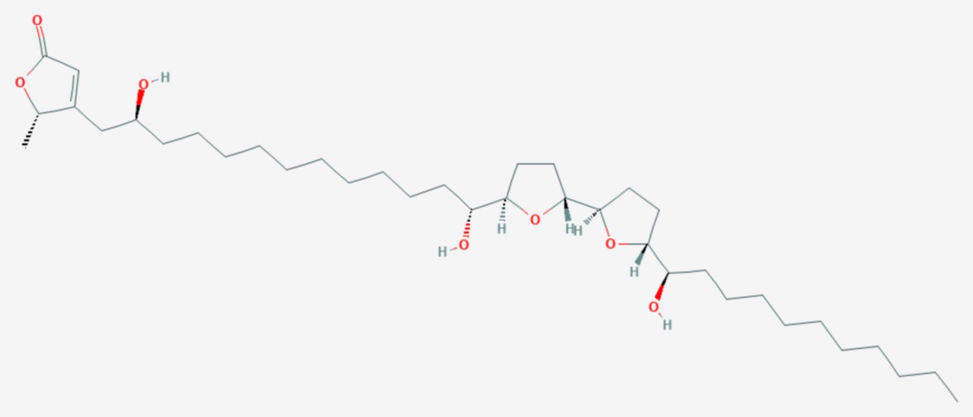 Asimicin (Strukturformel)