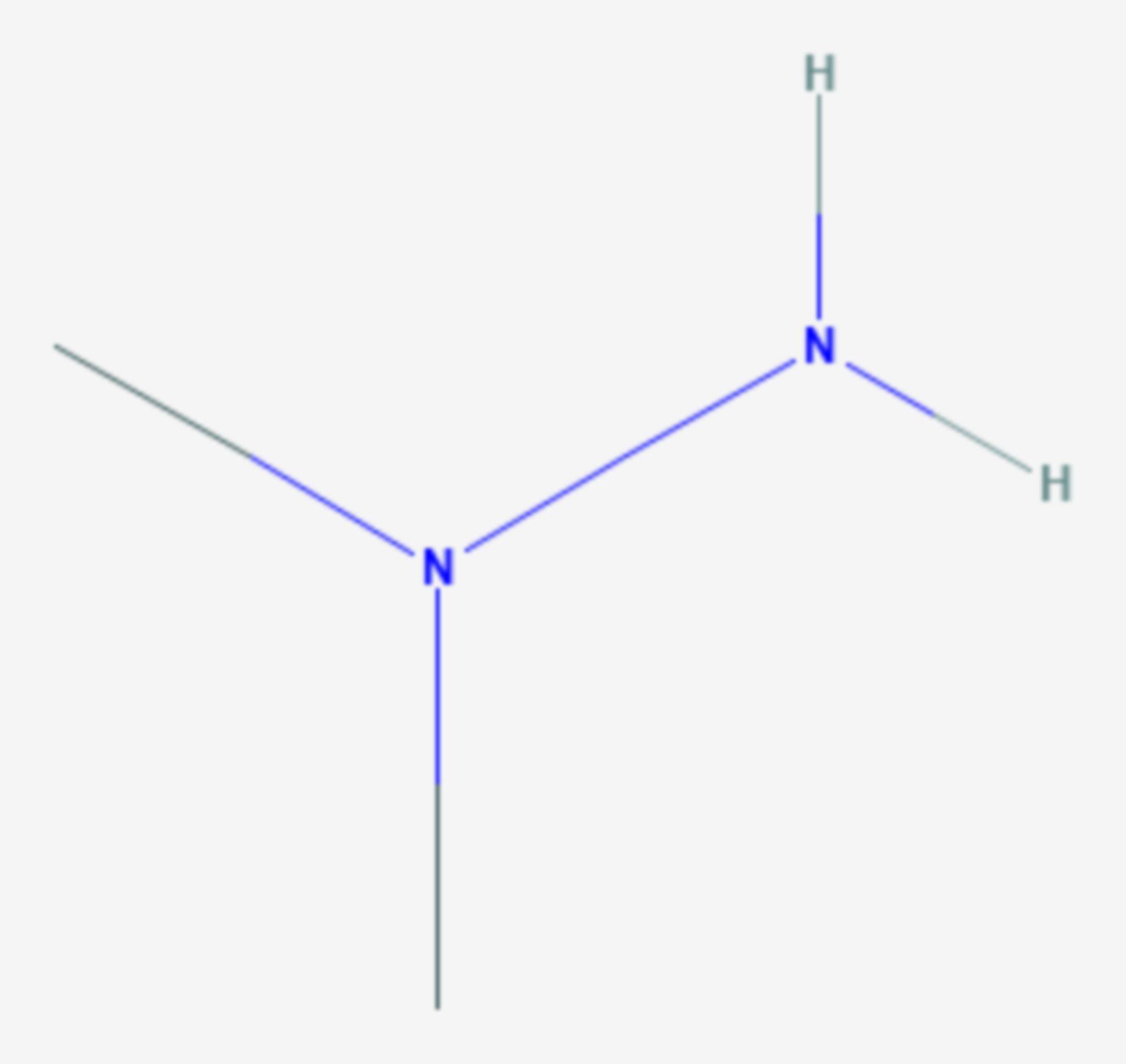 1,1-Dimethylhydrazin (Strukturformel)