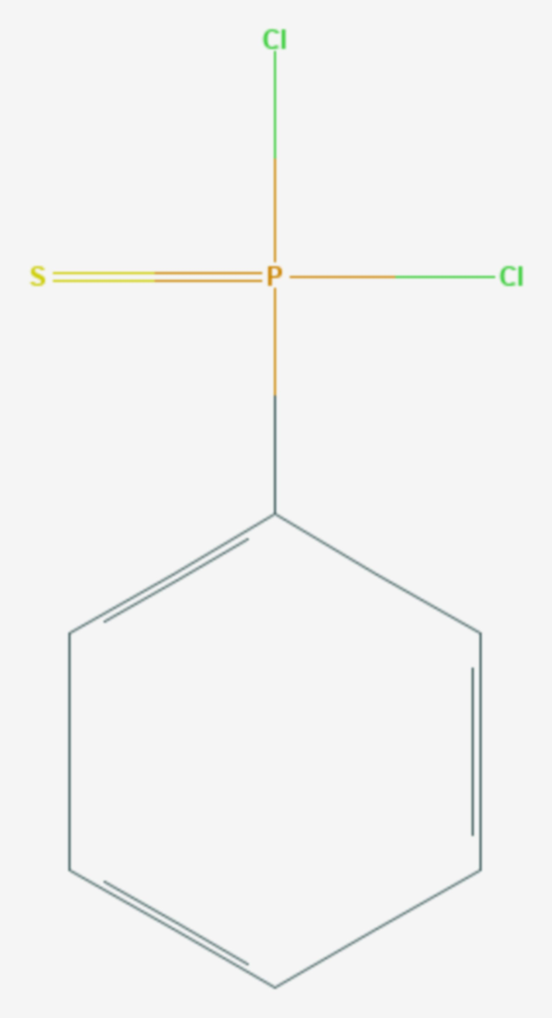 Phenylthiophosphonyldichlorid (Strukturformel)