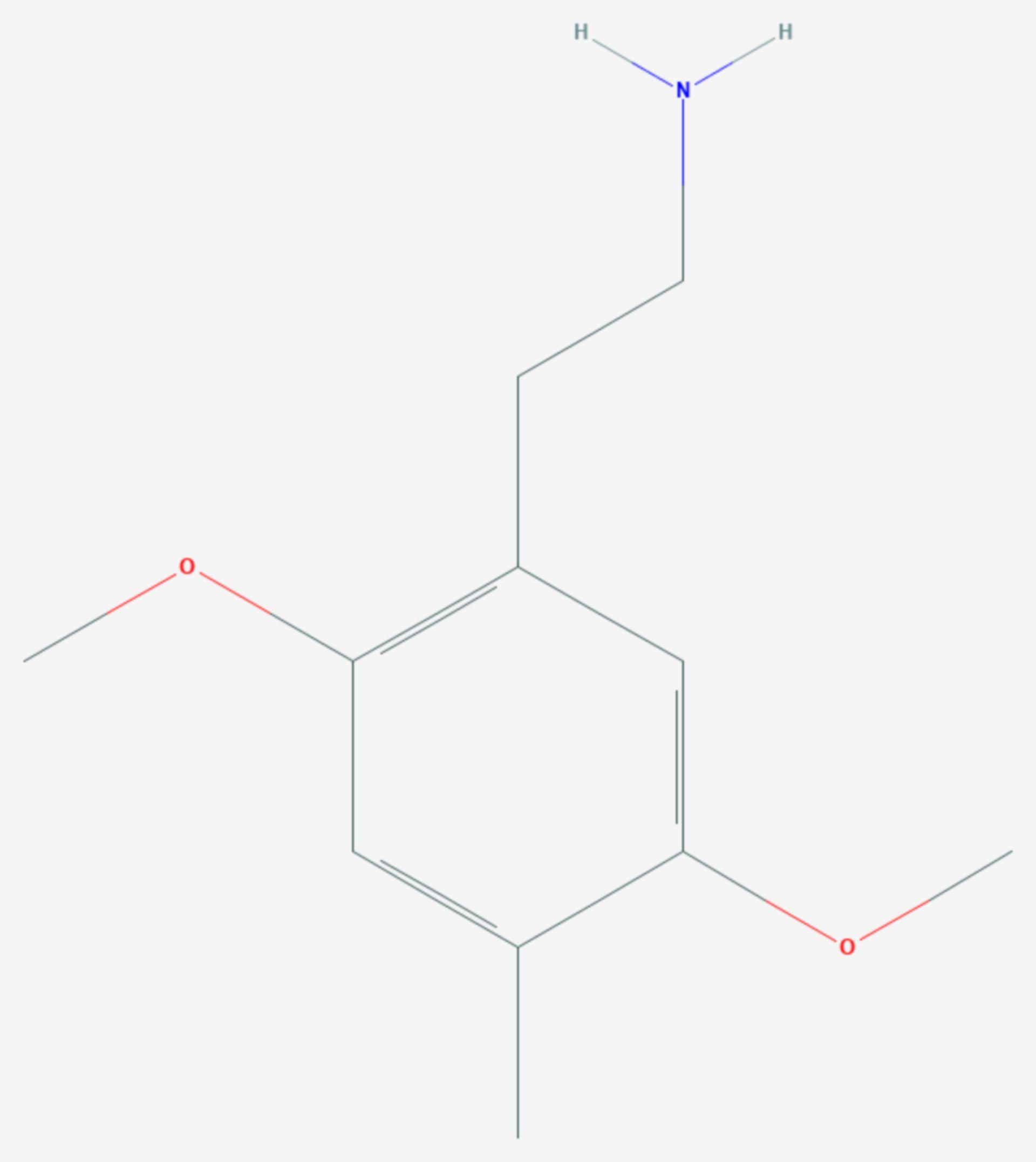 2,5-Dimethoxy-4-methylphenylethylamin (Strukturformel)