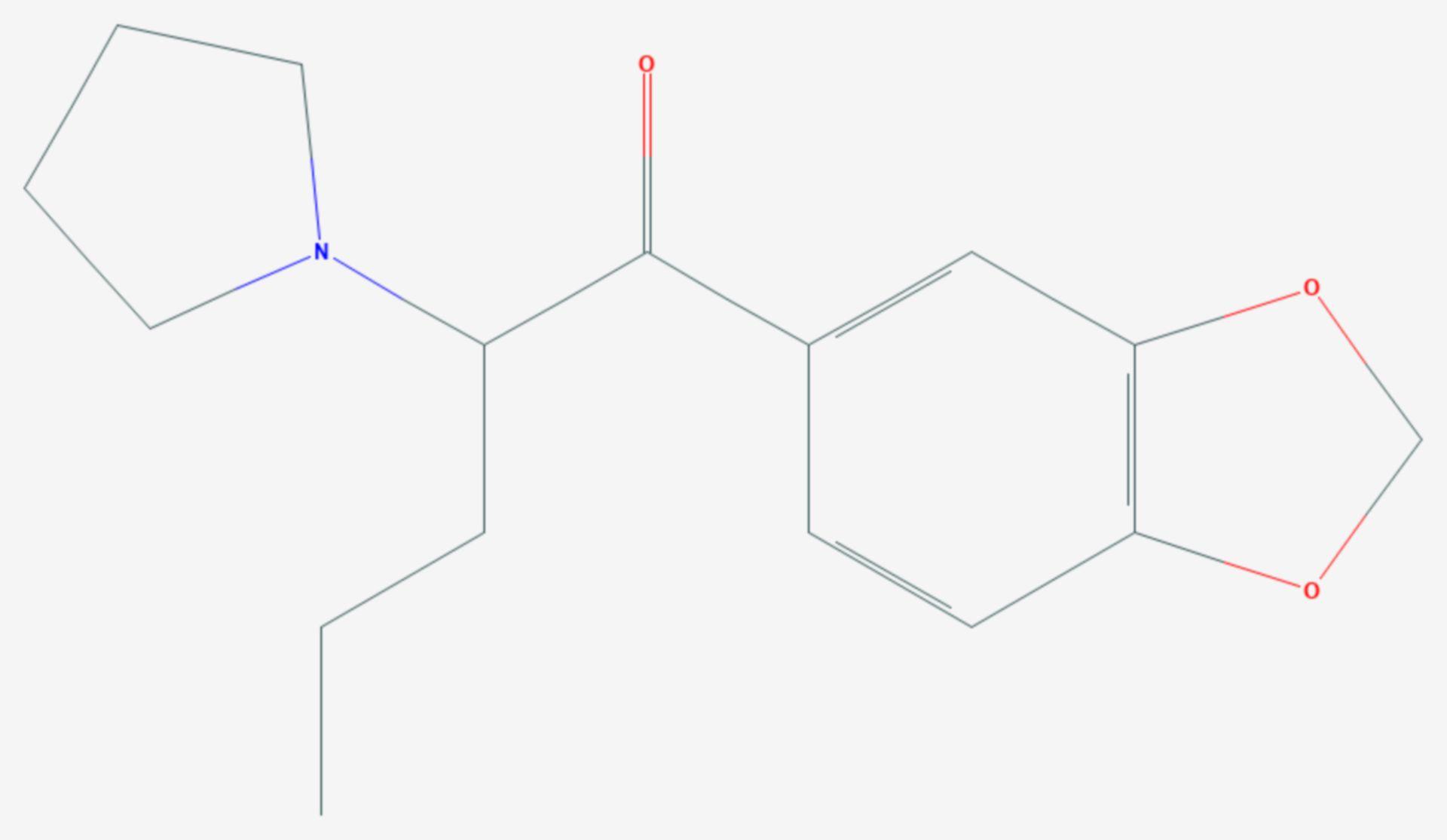 Methylendioxypyrovaleron (Strukturformel)