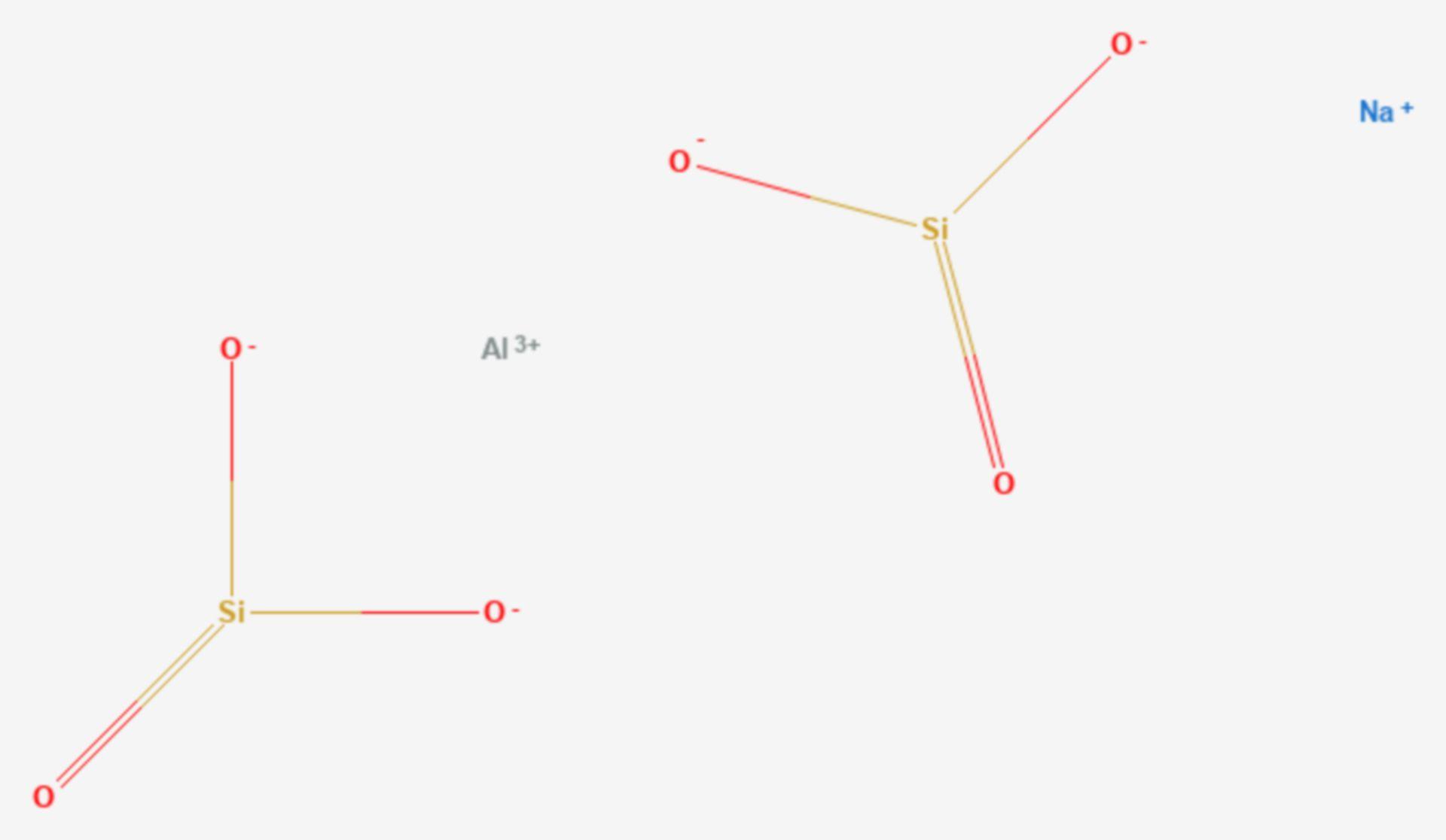 Aluminiumnatriumsilicat (Strukturformel)