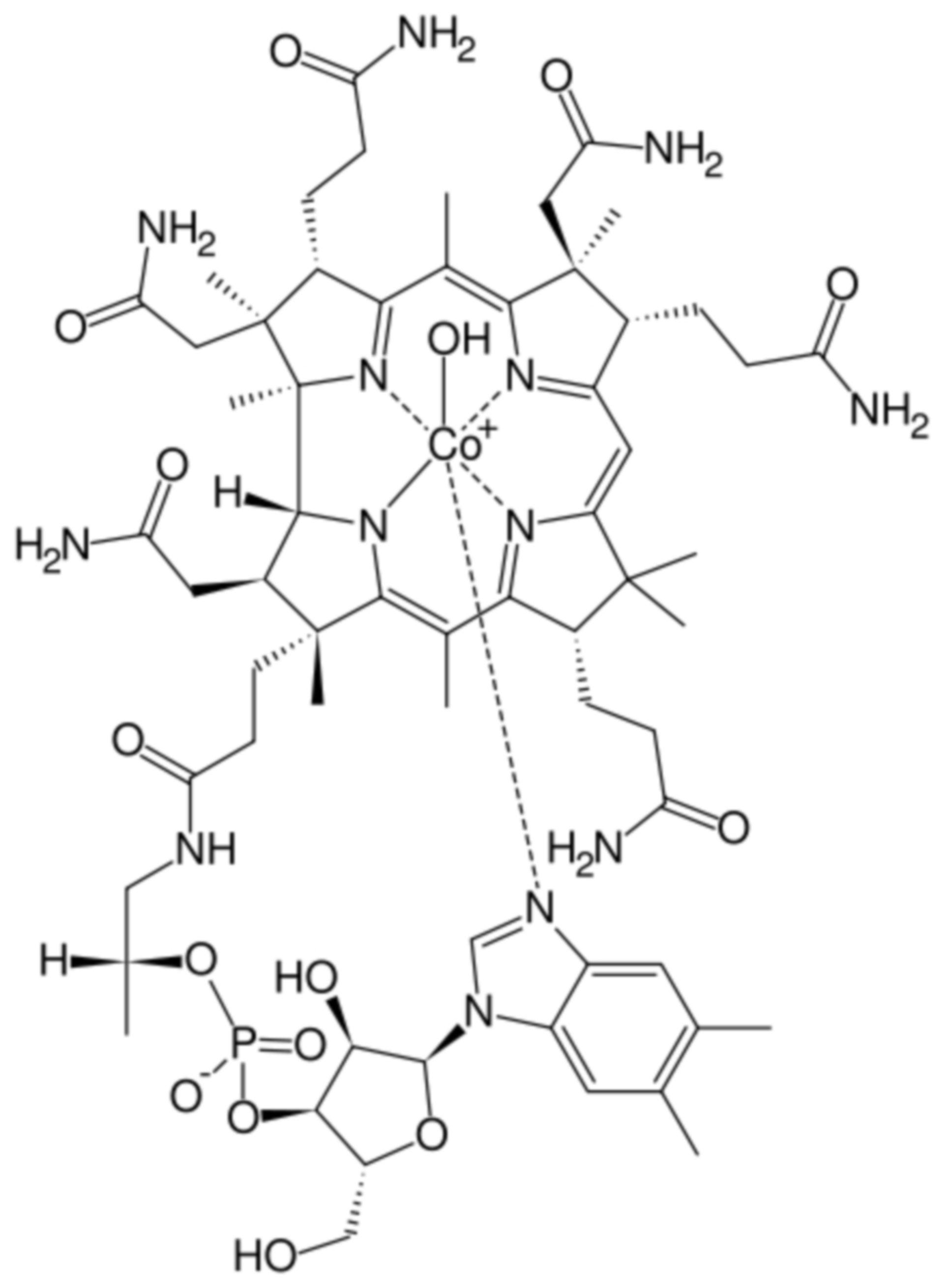 Hydroxocobalamin Strukturformel