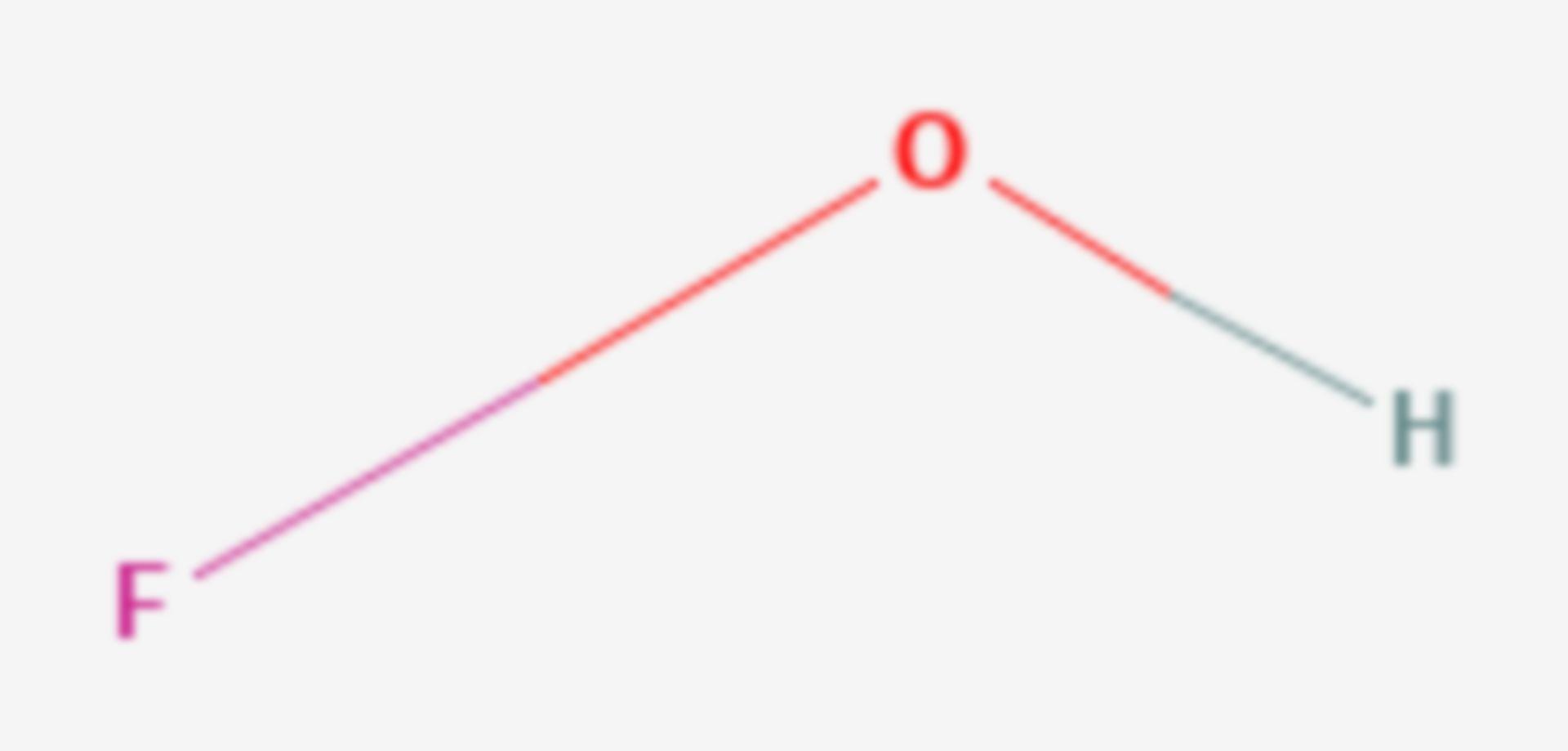 Hypofluorige Säure (Strukturformel)