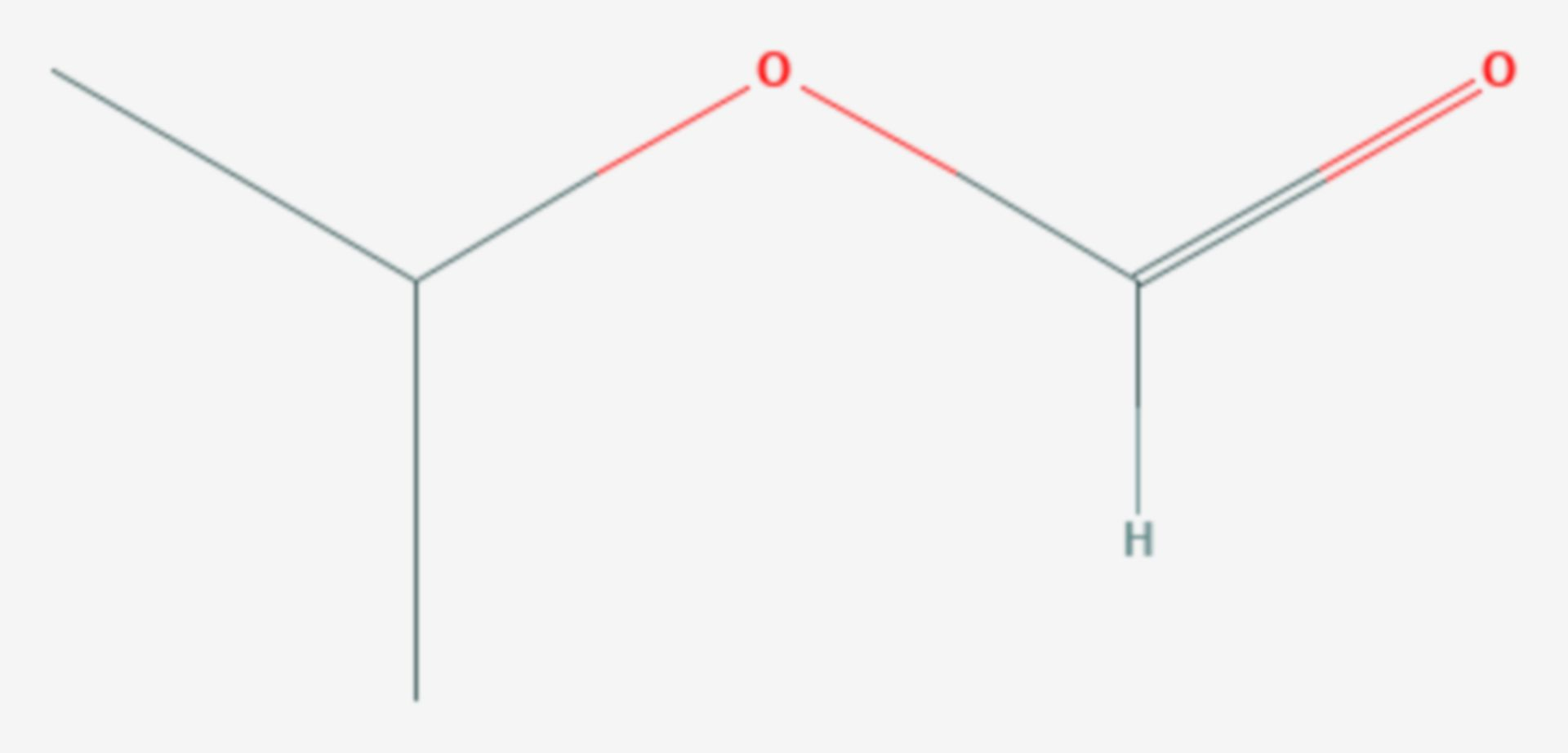 Ameisensäureisopropylester (Strukturformel)