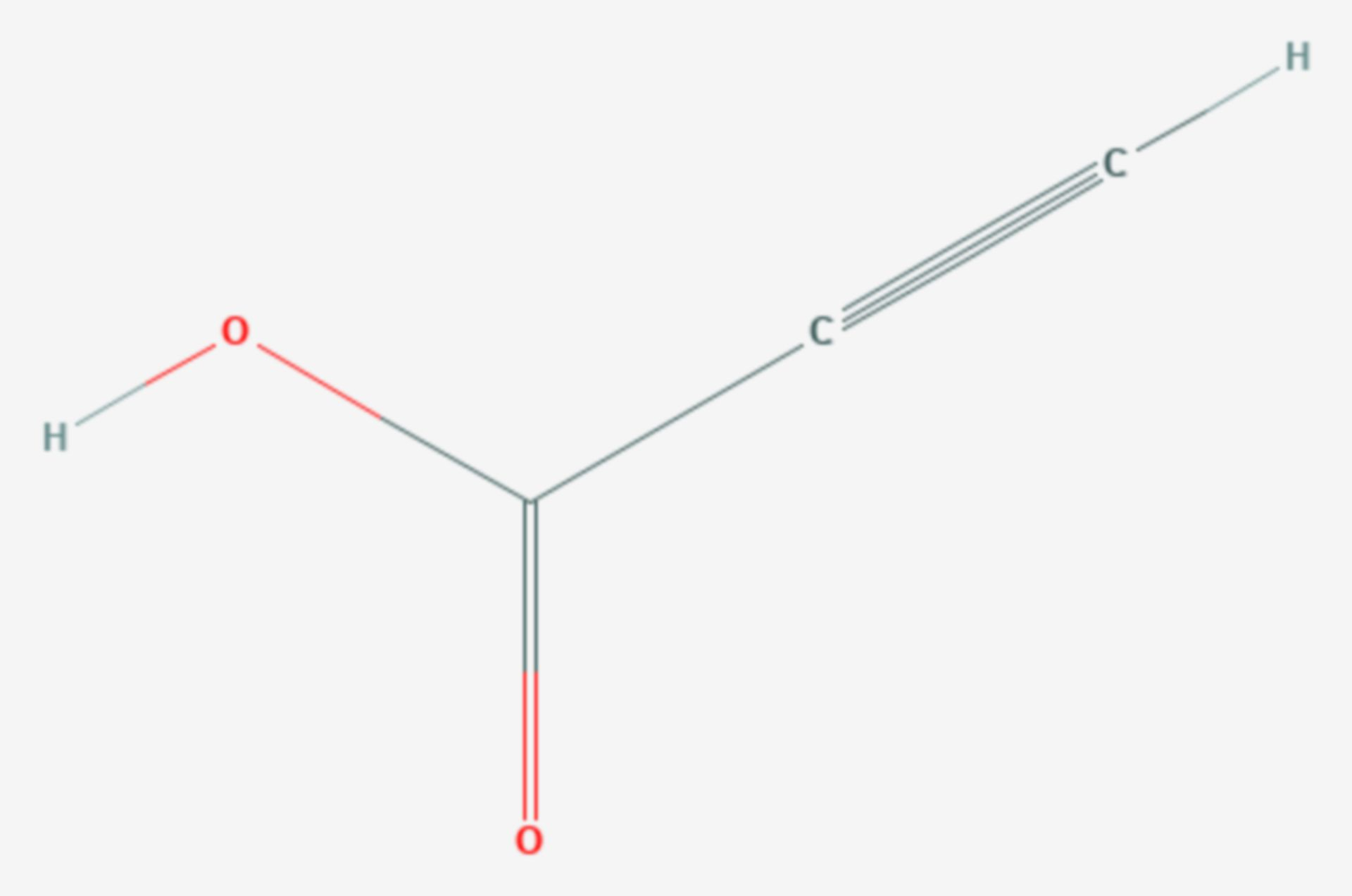 Propiolsäure (Strukturformel)